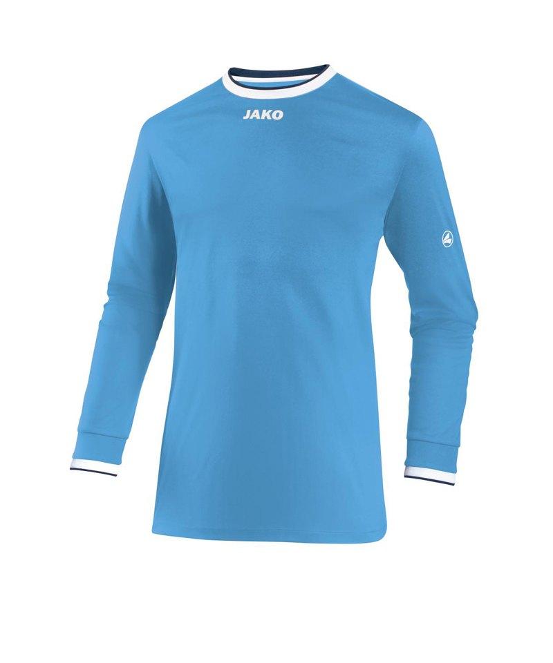 Jako United Trikot langarm Kids Blau Weiss F45 - blau