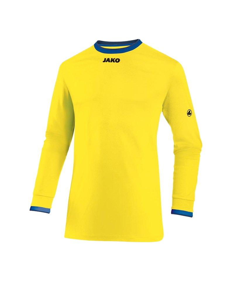 Jako United Trikot langarm Kids Gelb Blau F12 - gelb