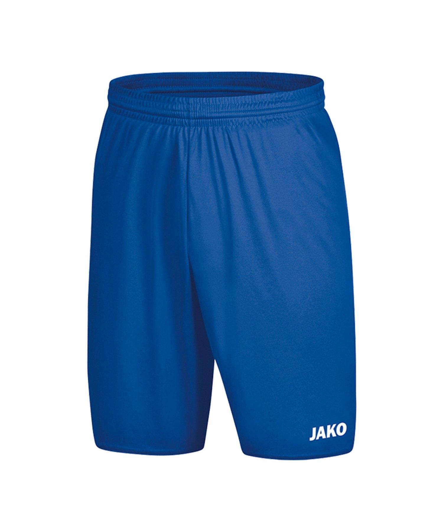 Jako Manchester 2.0 Short ohne Innenslip Blau F04 - Blau