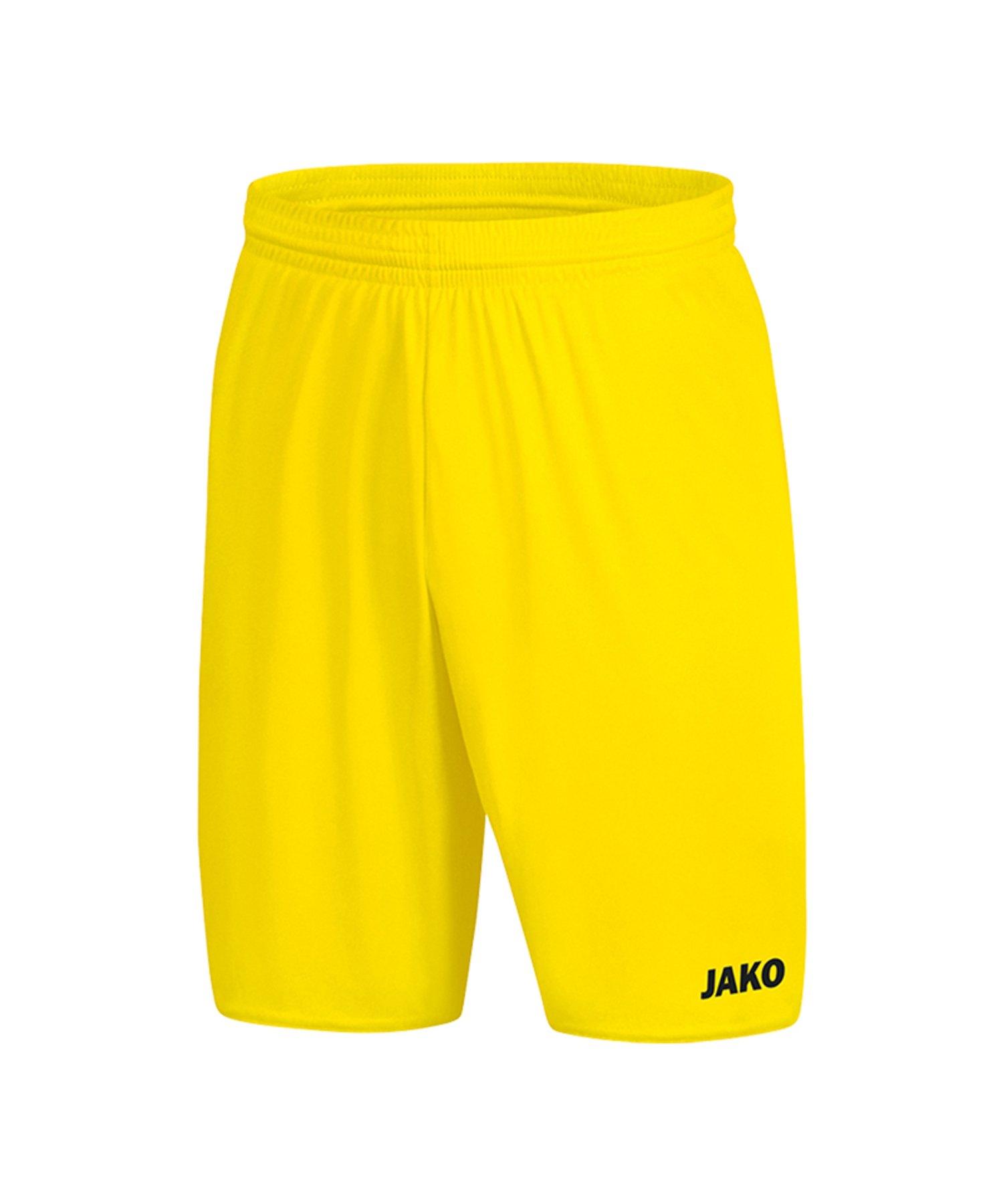 Jako Manchester 2.0 Short ohne Innenslip Gelb F03 - Gelb