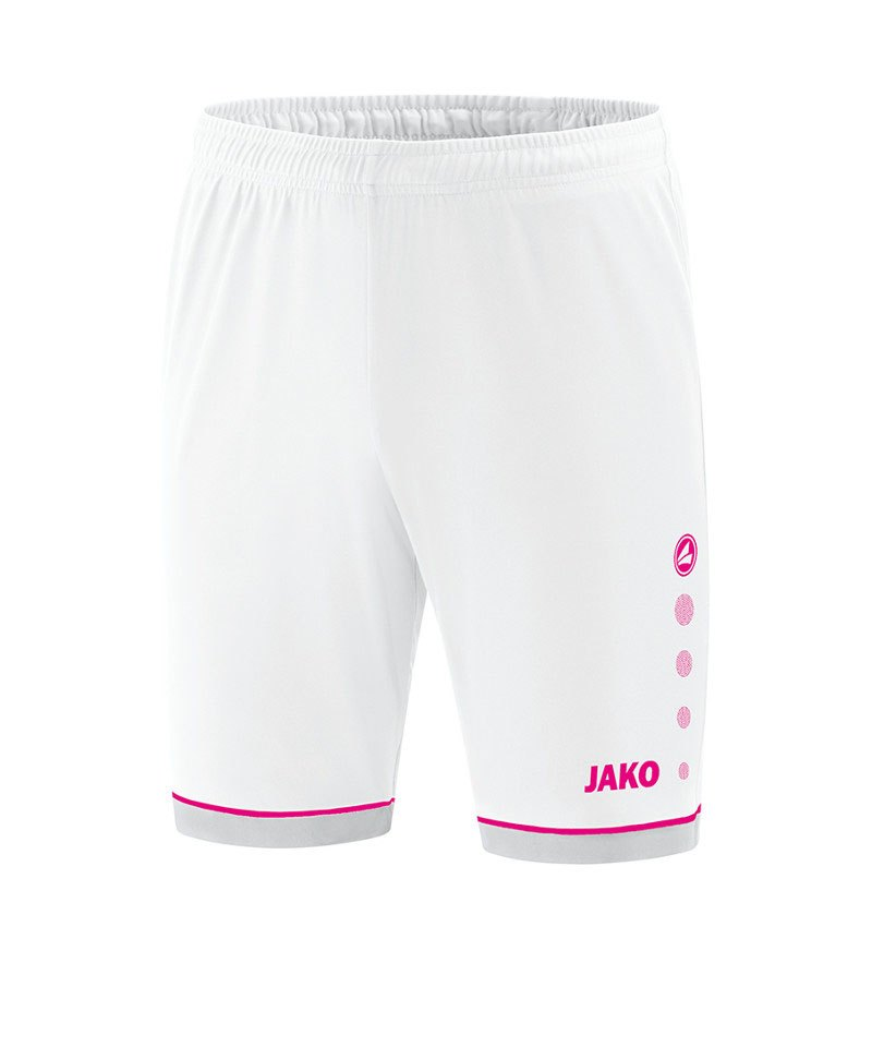 Jako Competition 2.0 Sporthose Weiss Pink F00 - weiss