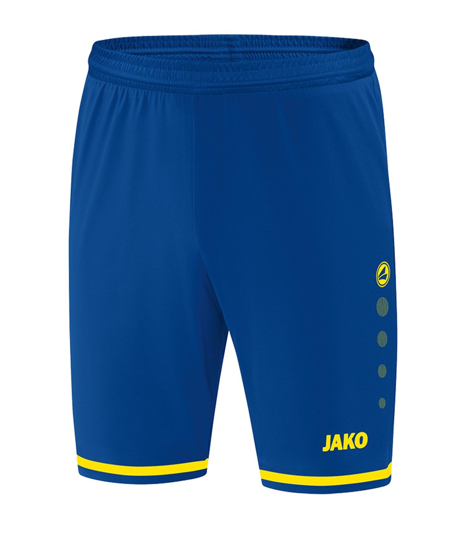 Jako Striker 2.0 Short Hose kurz Blau Gelb F12 - Blau