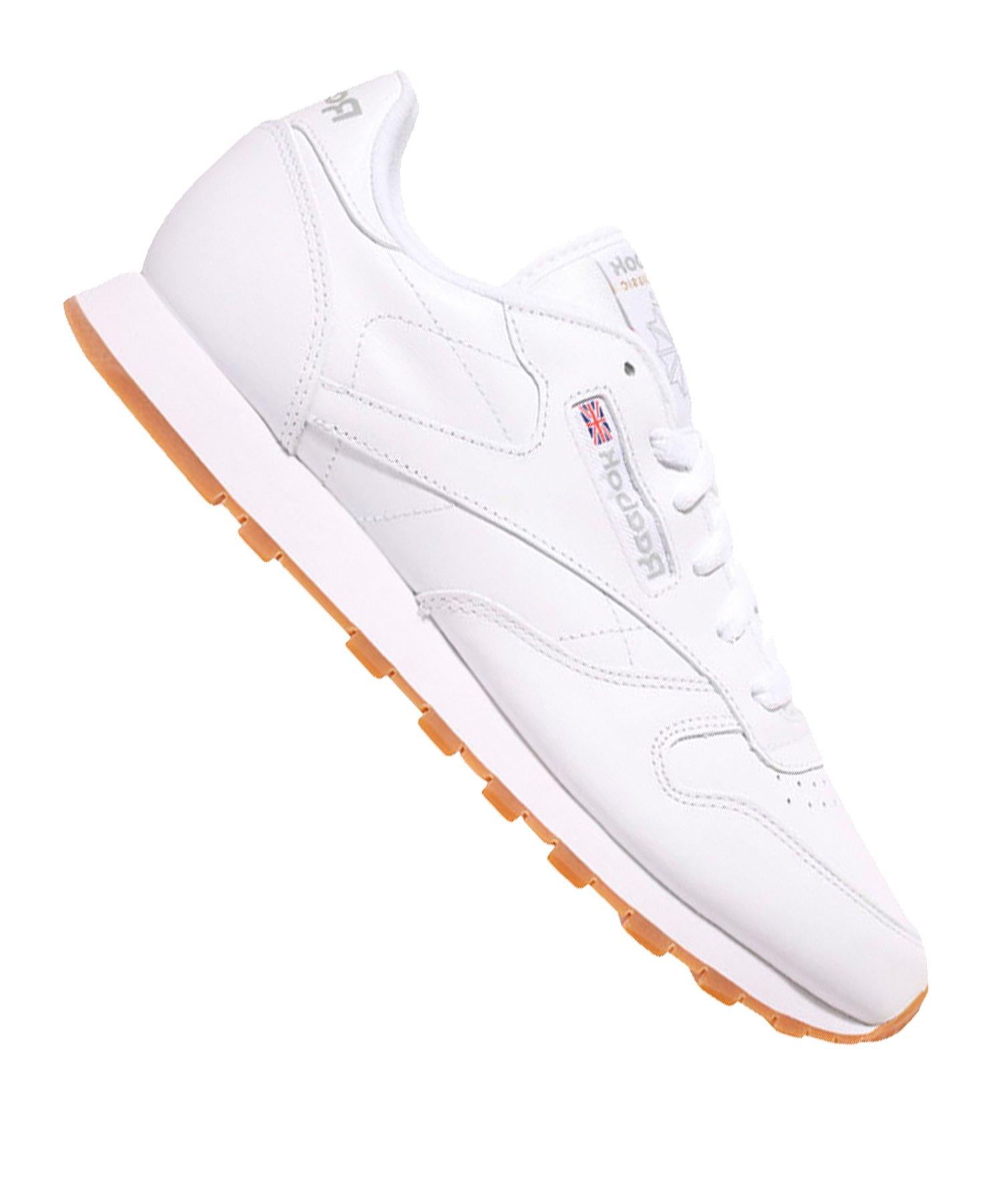 Reebok Classic Leather Sneaker Damen Weiss - weiss