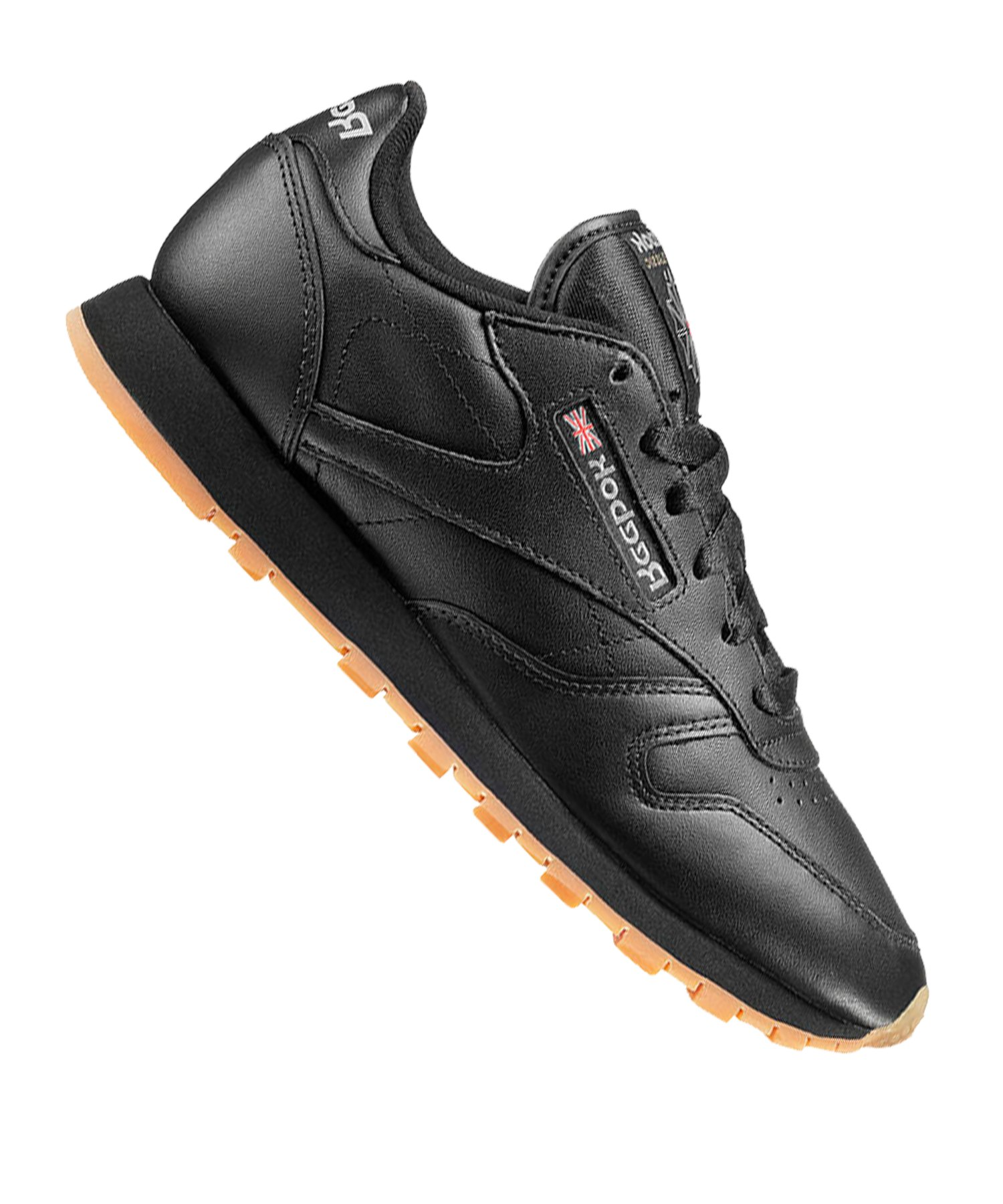 Reebok Classic Leather Sneaker Damen Schwarz - schwarz