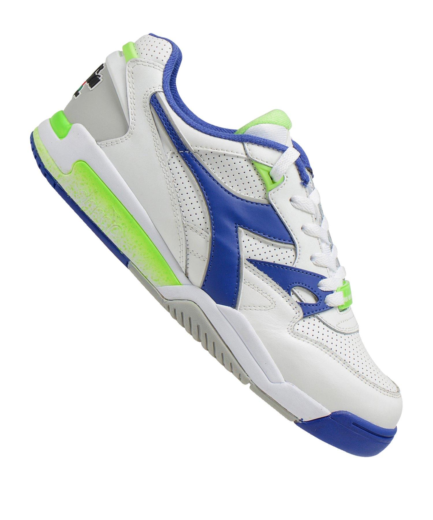 Diadora Rebound Ace Sneaker Weiss Blau C3144 - weiss