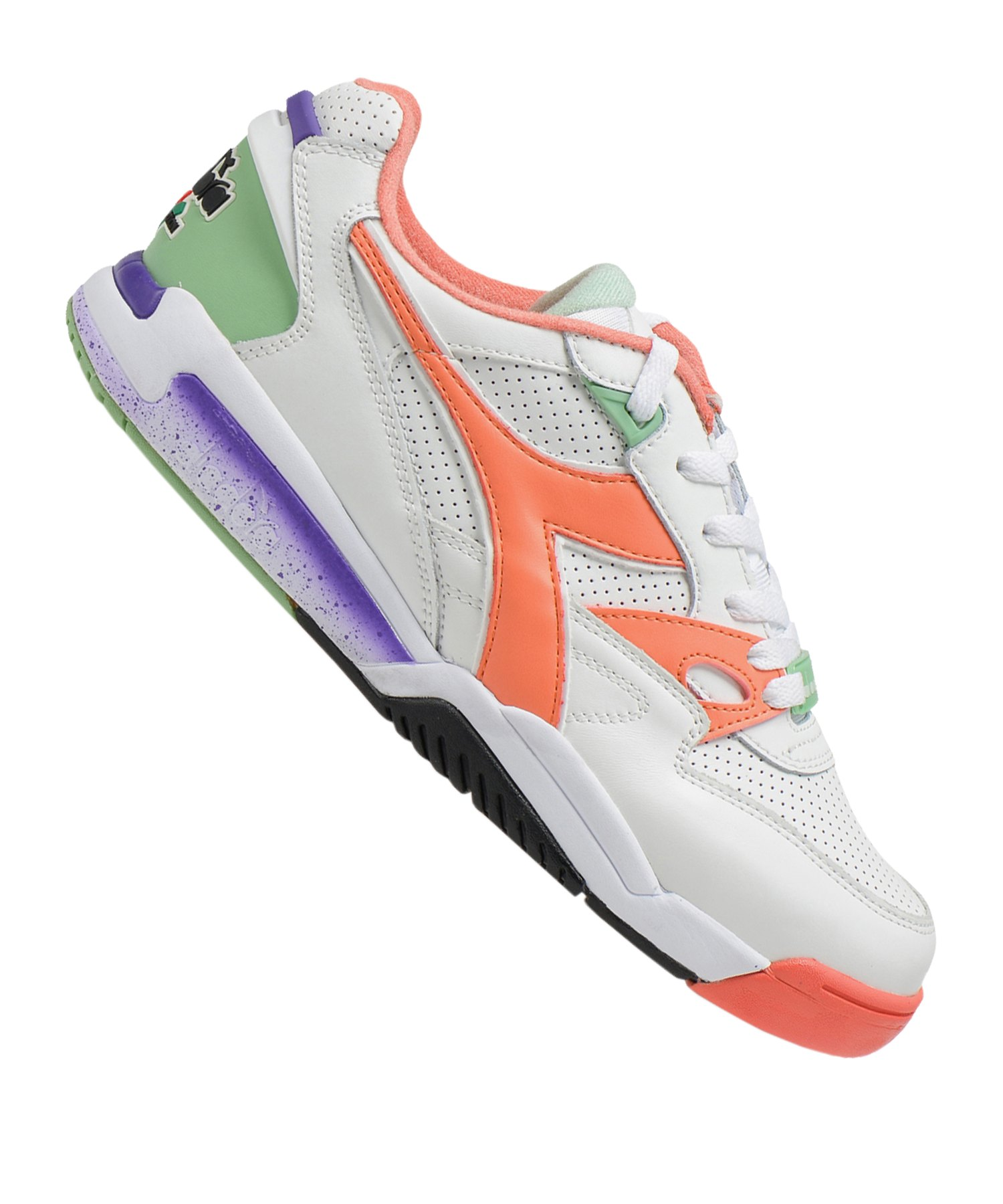 Diadora Rebound Ace Sneaker Weiss Rosa C8001 - weiss