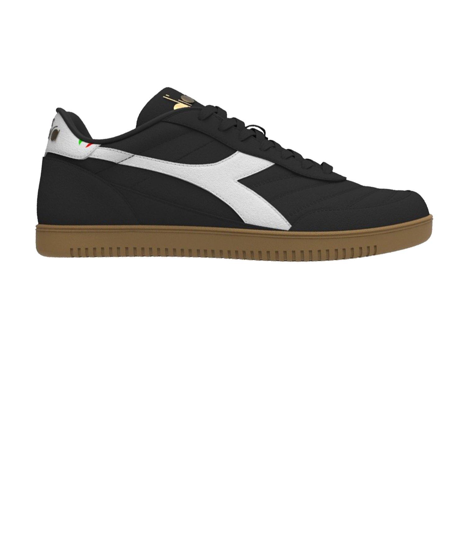 Diadora Gold Indoor Sneaker Schwarz C80013 - schwarz