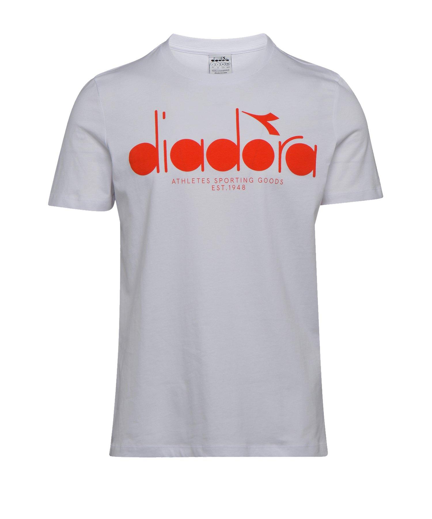 Diadora T-Shirt BL Weiss C8106 - weiss