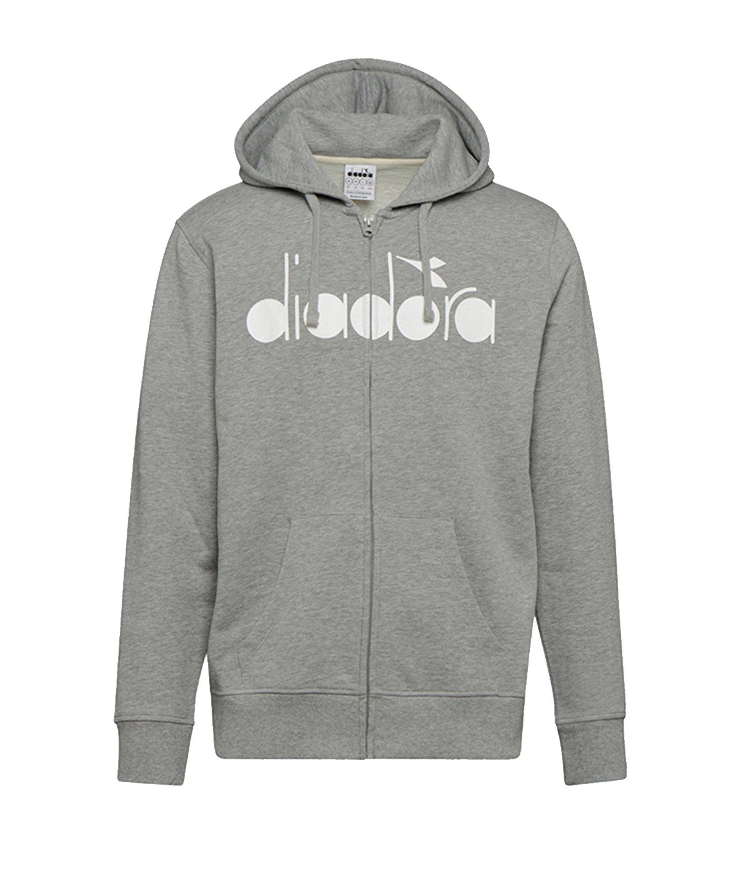 Diadora Hoody 5Palle Kapuzenjacke Grau C5493 - grau