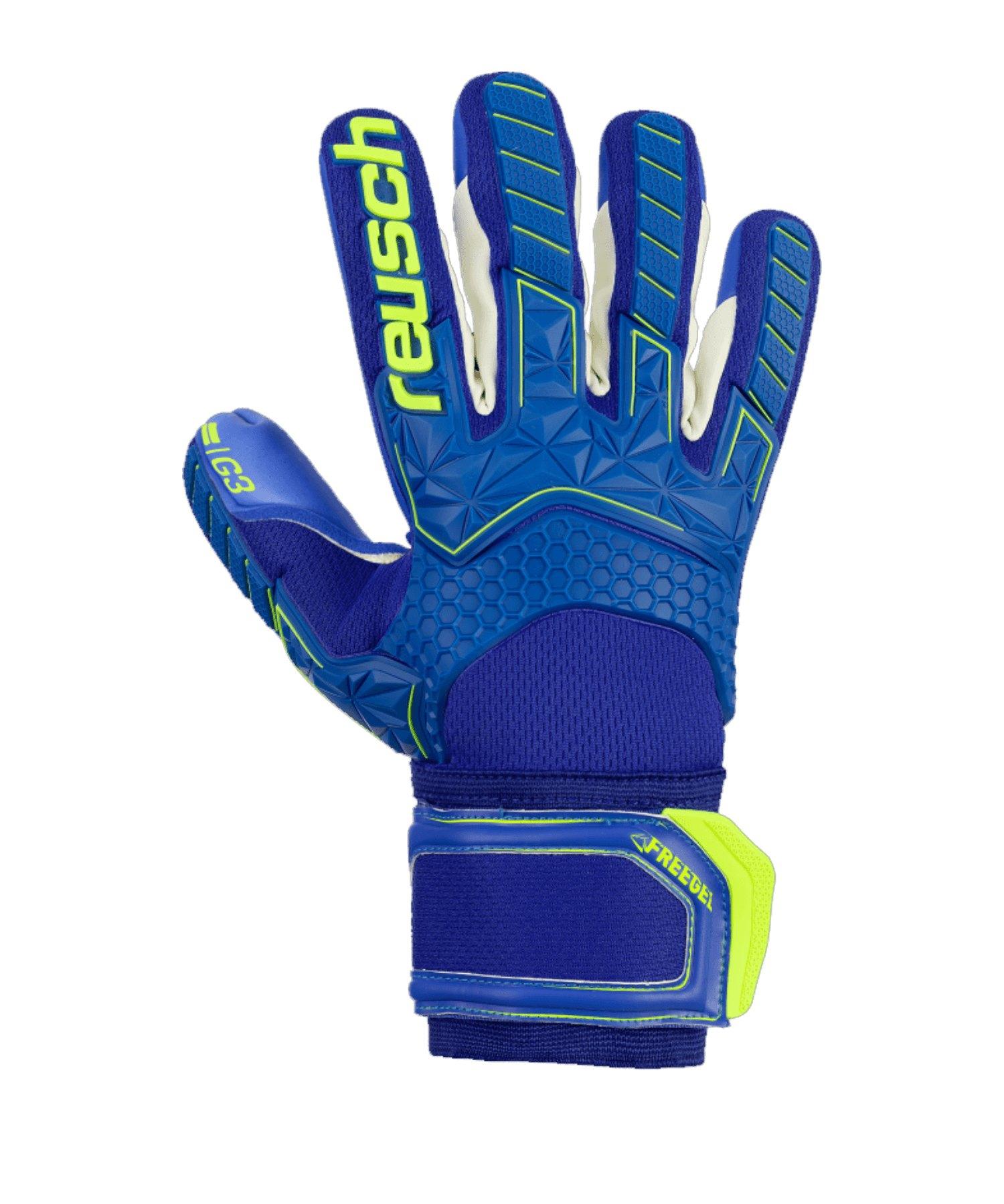 Reusch Freegel G3 Finger Support TW-Handschuh Blau - blau