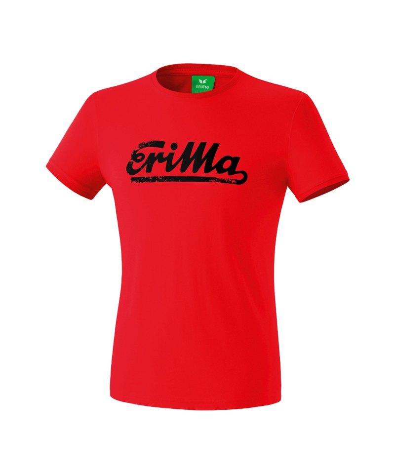 Erima Retro T-Shirt Rot Schwarz - rot