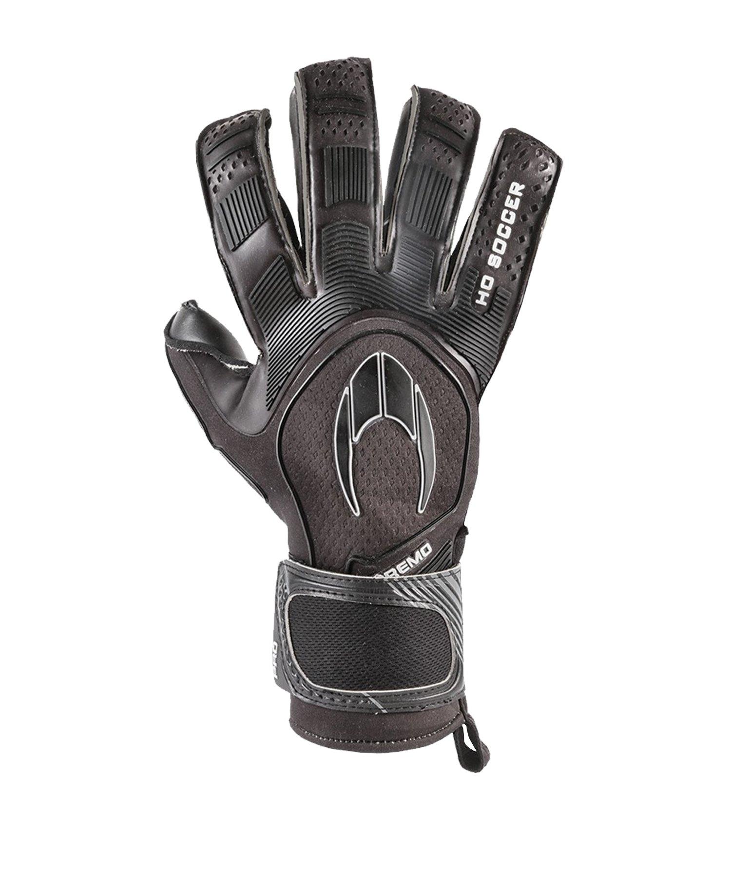 HO Soccer Supremo Pro 2 Roll TW-Handschuhe Schwarz - schwarz