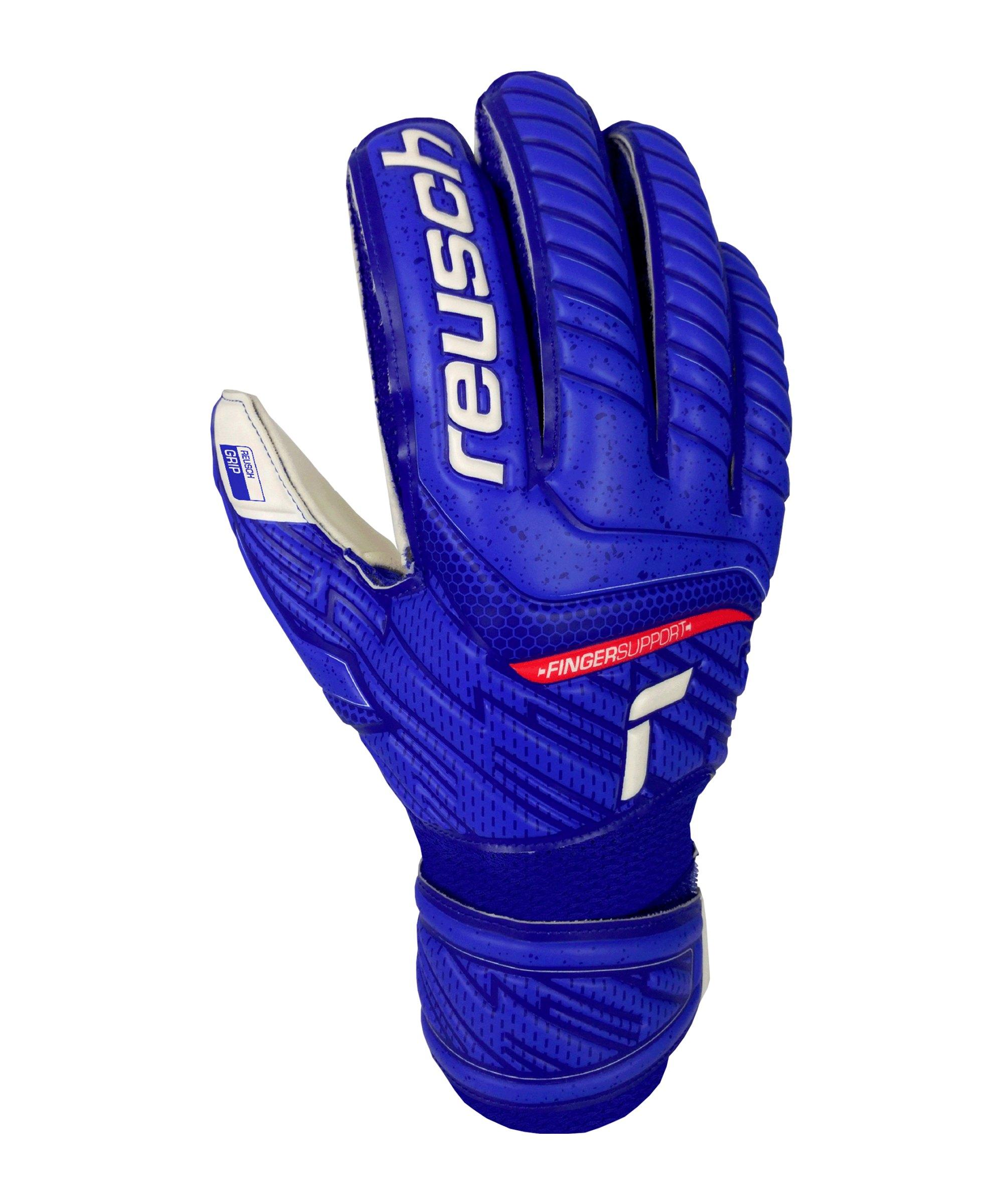 Reusch Attrakt Grip TW-Handschuh Junior F4011 - blau