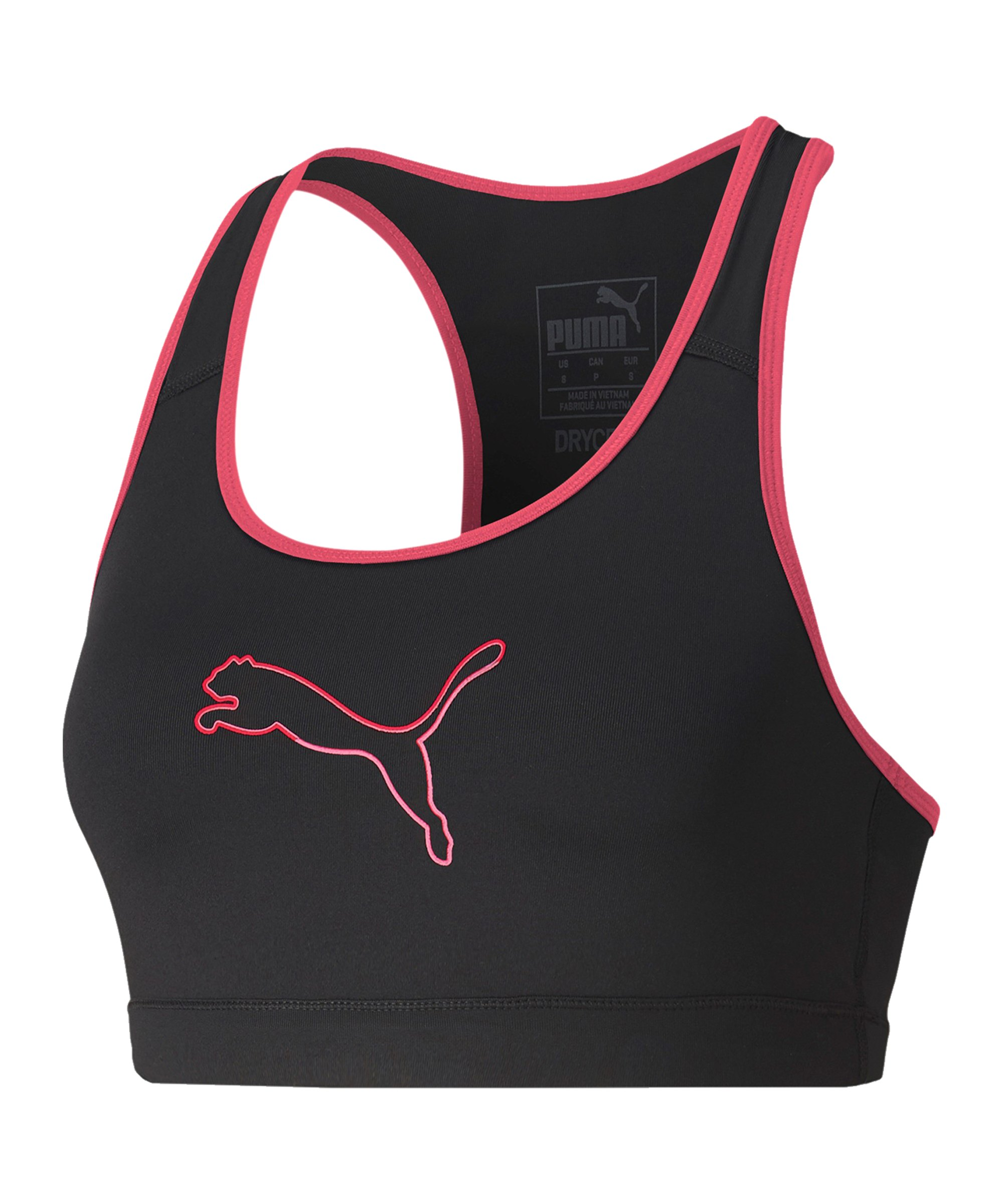 PUMA 4Keeps Sport-BH Damen Schwarz Pink F007 - schwarz