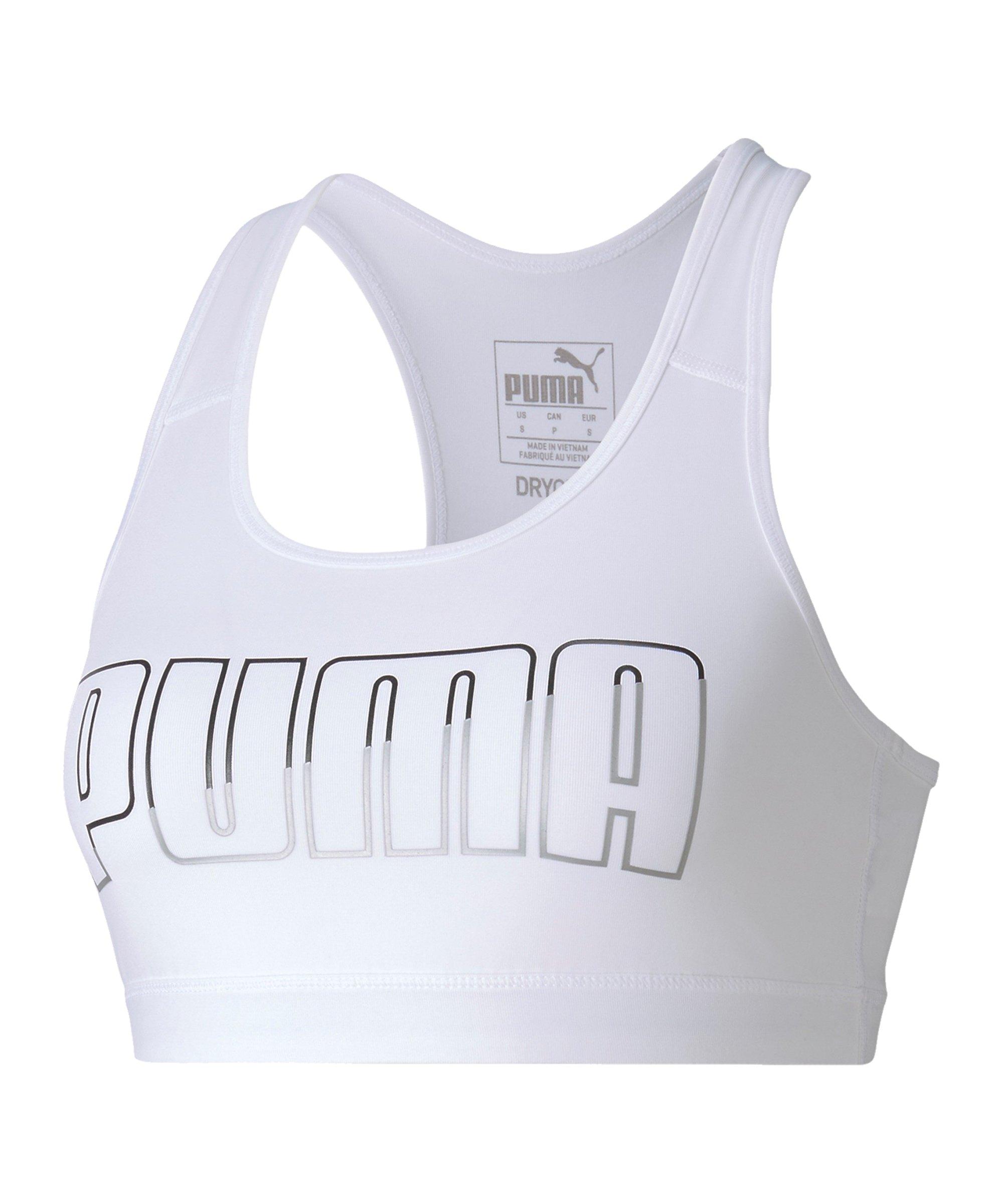 PUMA 4Keeps Sport-BH Damen Weiss F006 - weiss