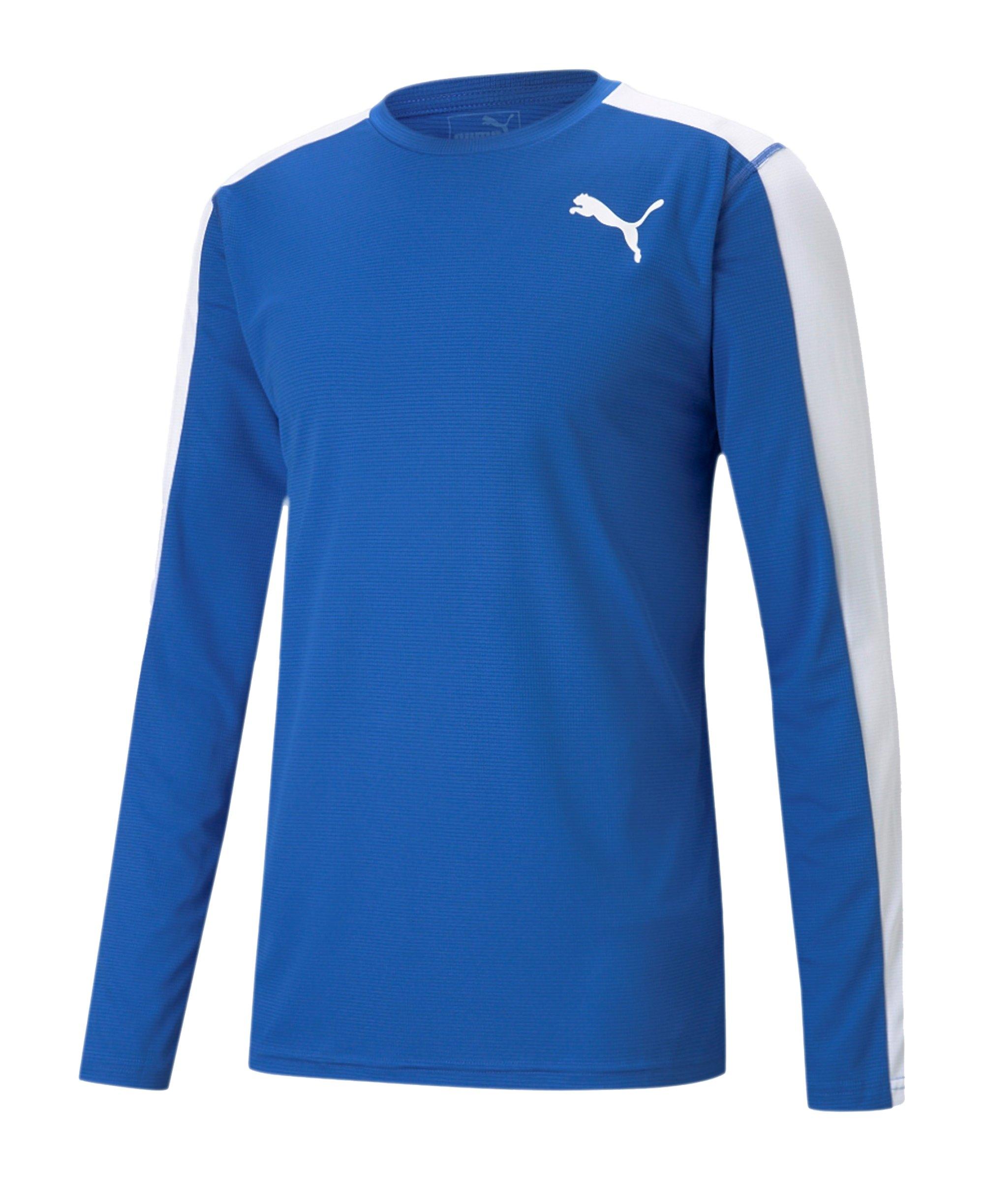 PUMA Cross the Line Sweatshirt Blau Weiss F04 - blau