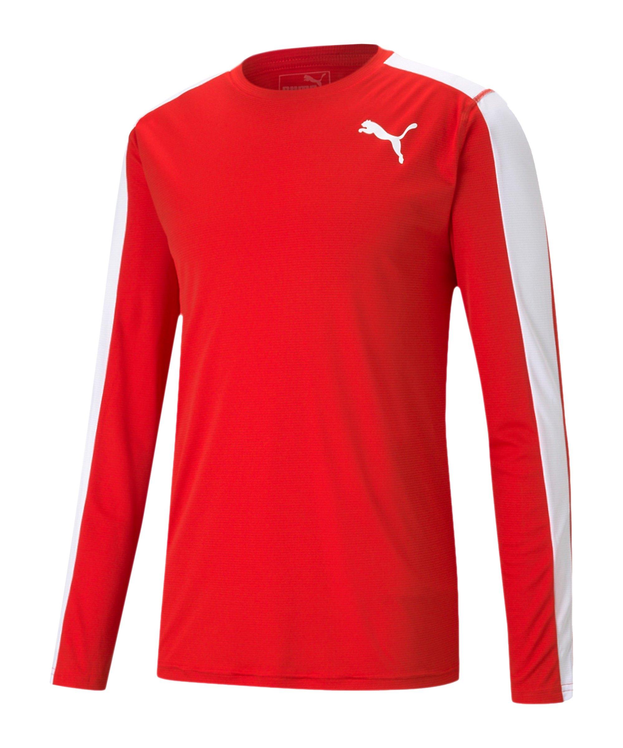 PUMA Cross the Line Sweatshirt Rot Weiss F05 - rot