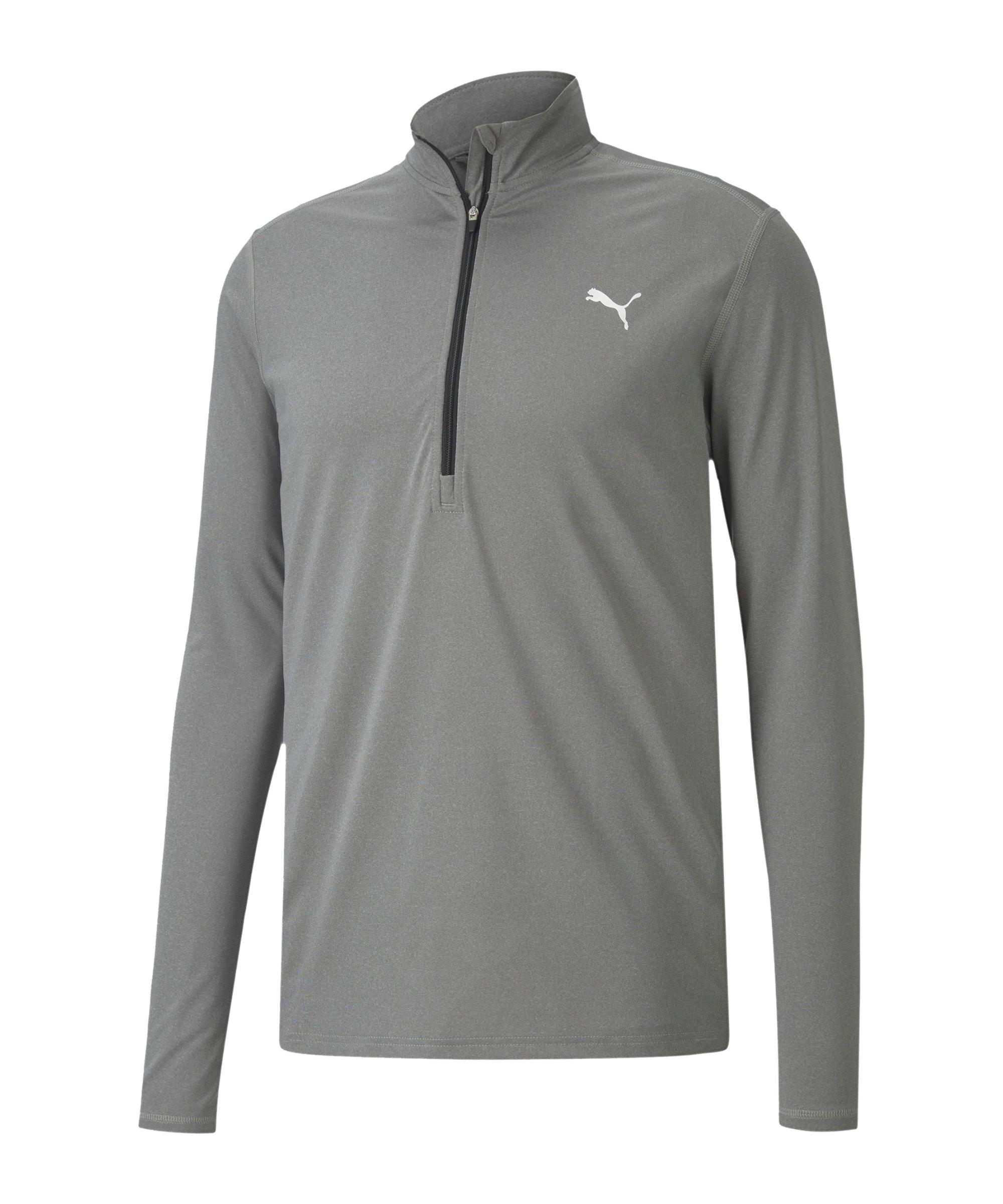 PUMA Cross the Line HalfZip Sweatshirt Grau F01 - grau