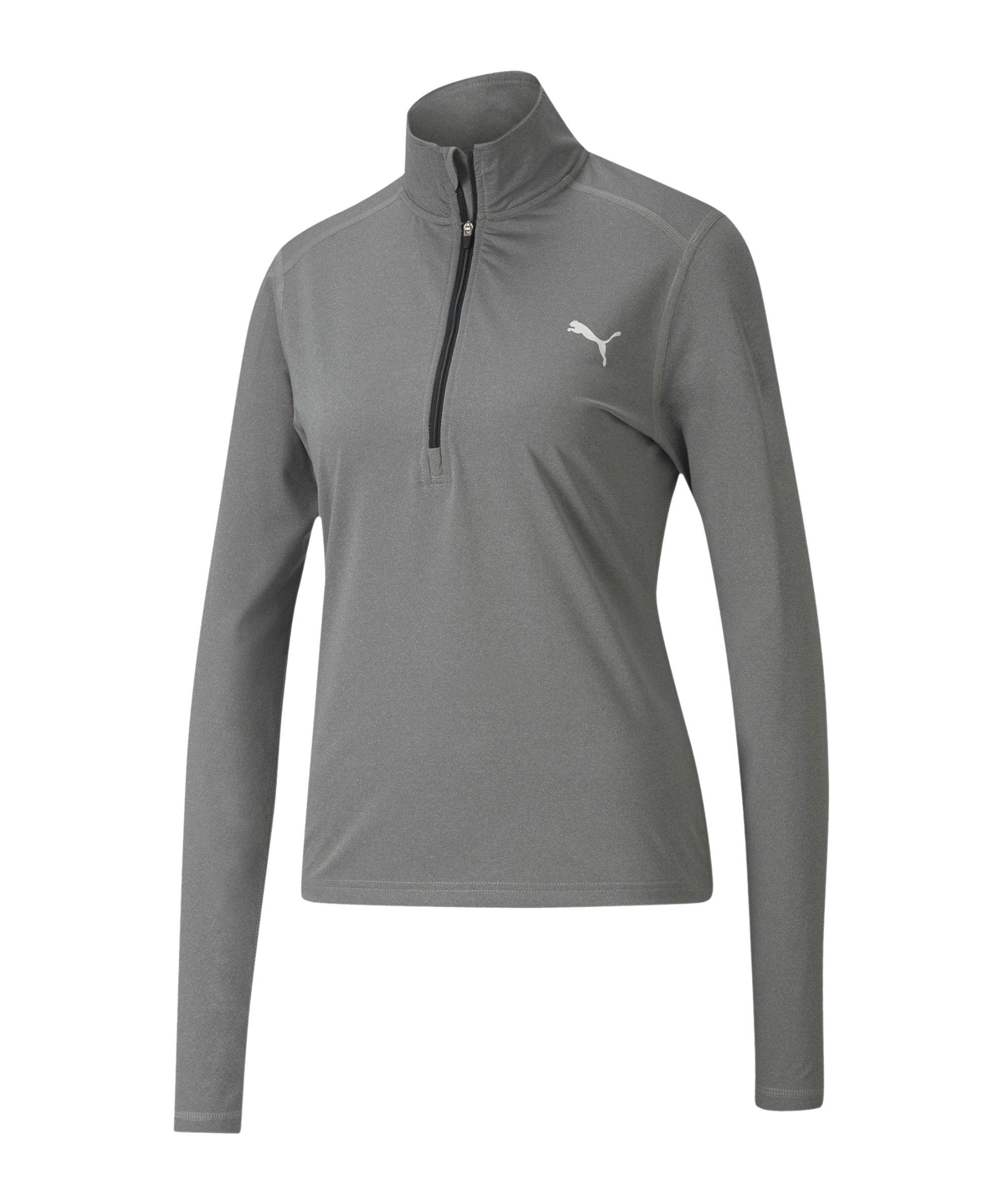 PUMA Cross the Line HalfZip Sweatshirt Damen F01 - grau
