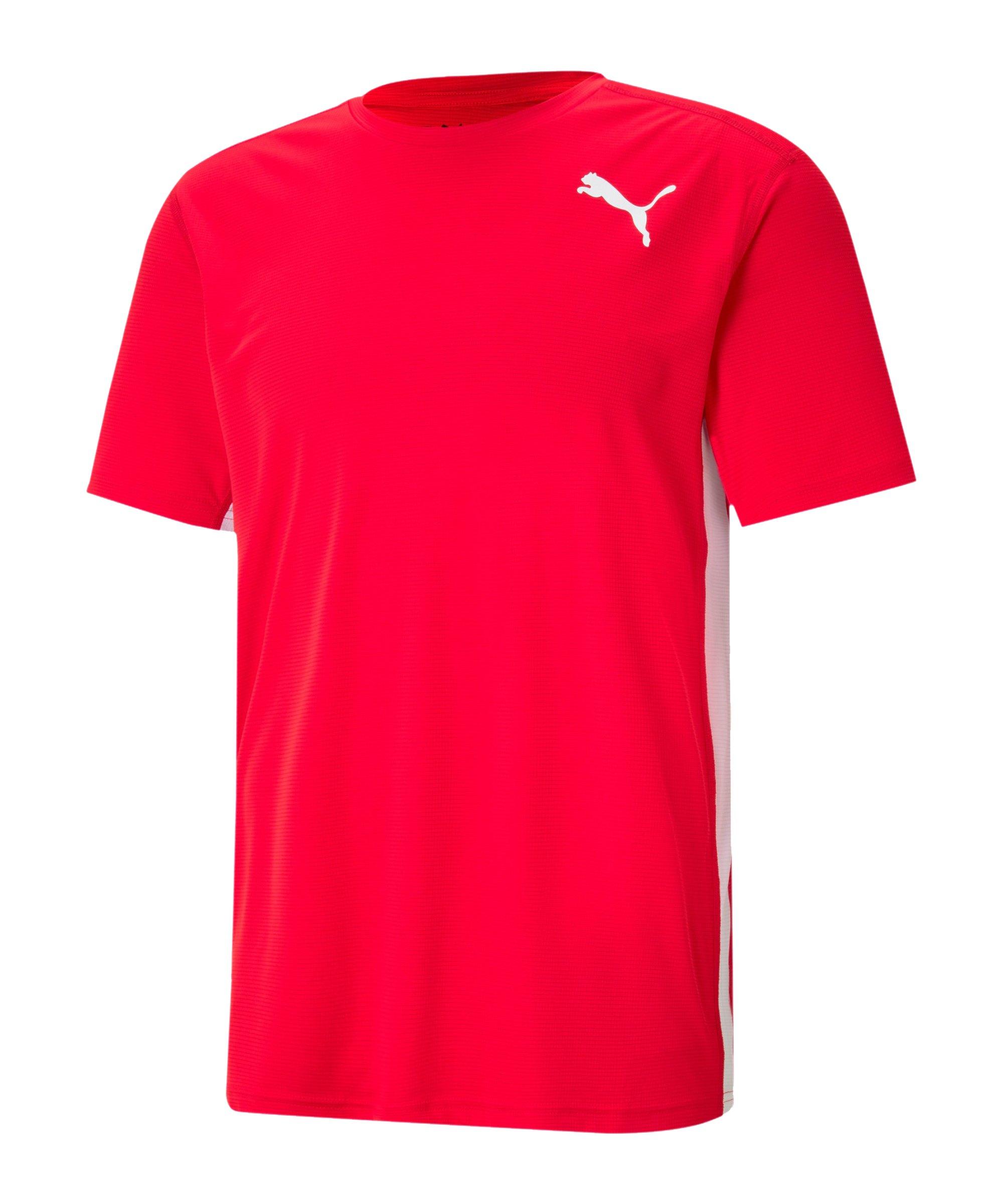 PUMA Cross the Line 2.0 T-Shirt Rot Weiss F05 - rot