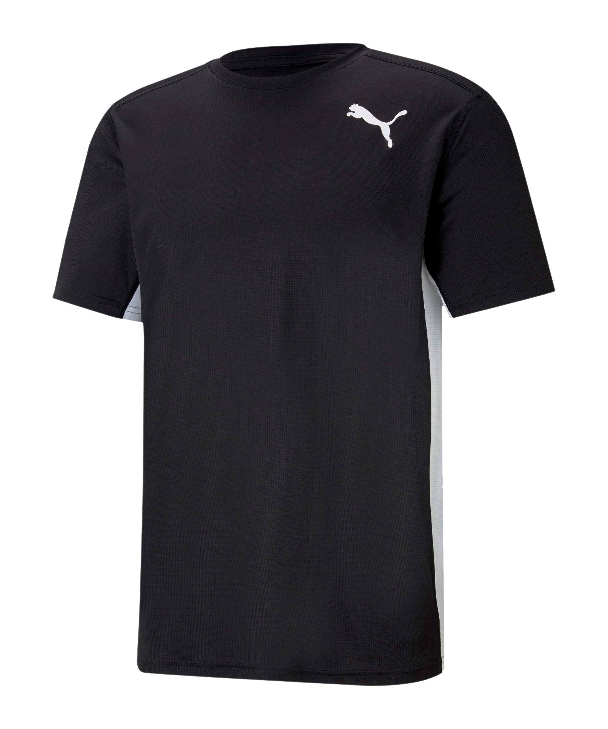 PUMA Cross the Line 2.0 T-Shirt Schwarz Weiss F01 - schwarz