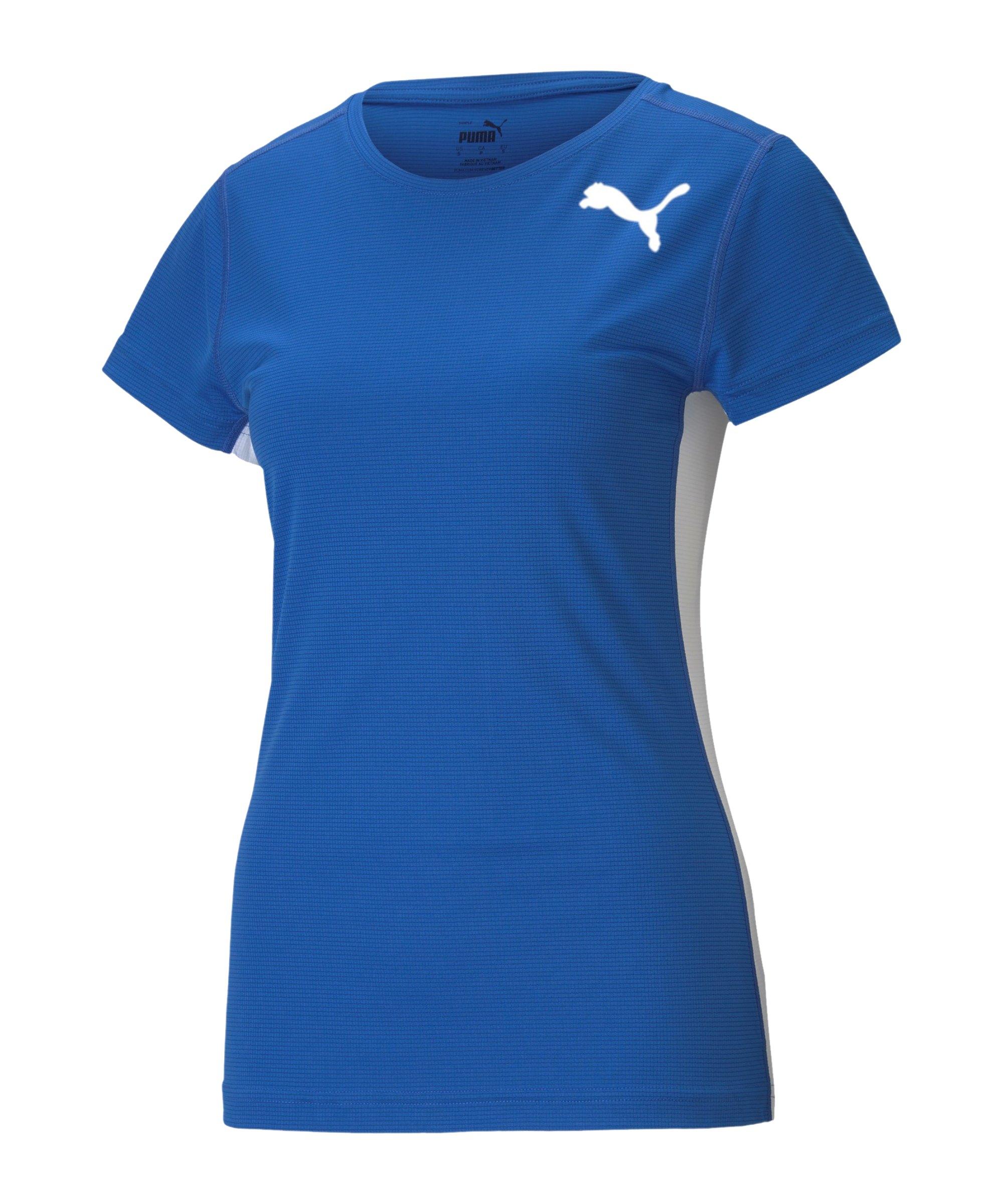 PUMA Cross the Line 2.0 T-Shirt Training Damen F04 - blau