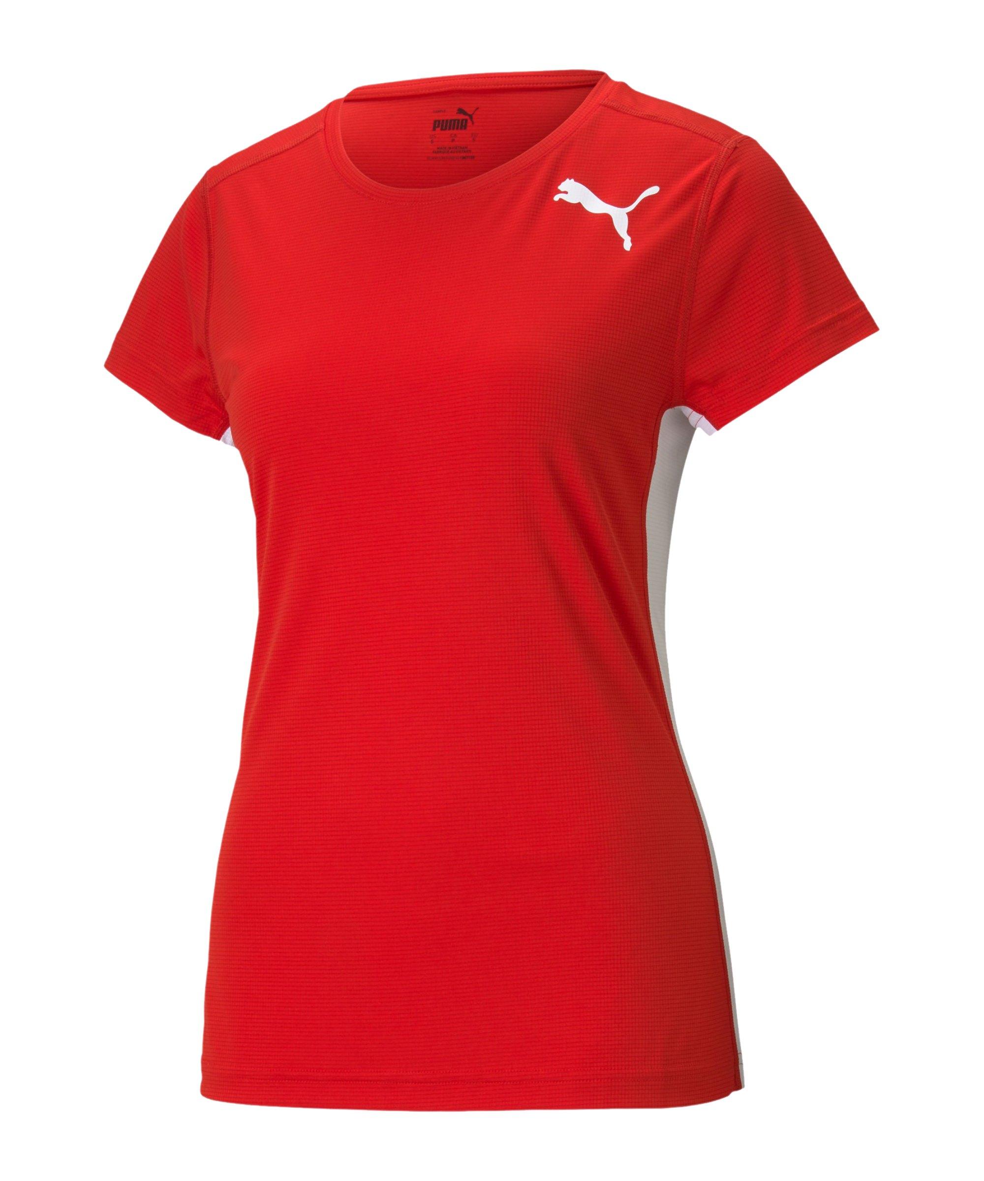 PUMA Cross the Line 2.0 T-Shirt Training Damen F05 - rot