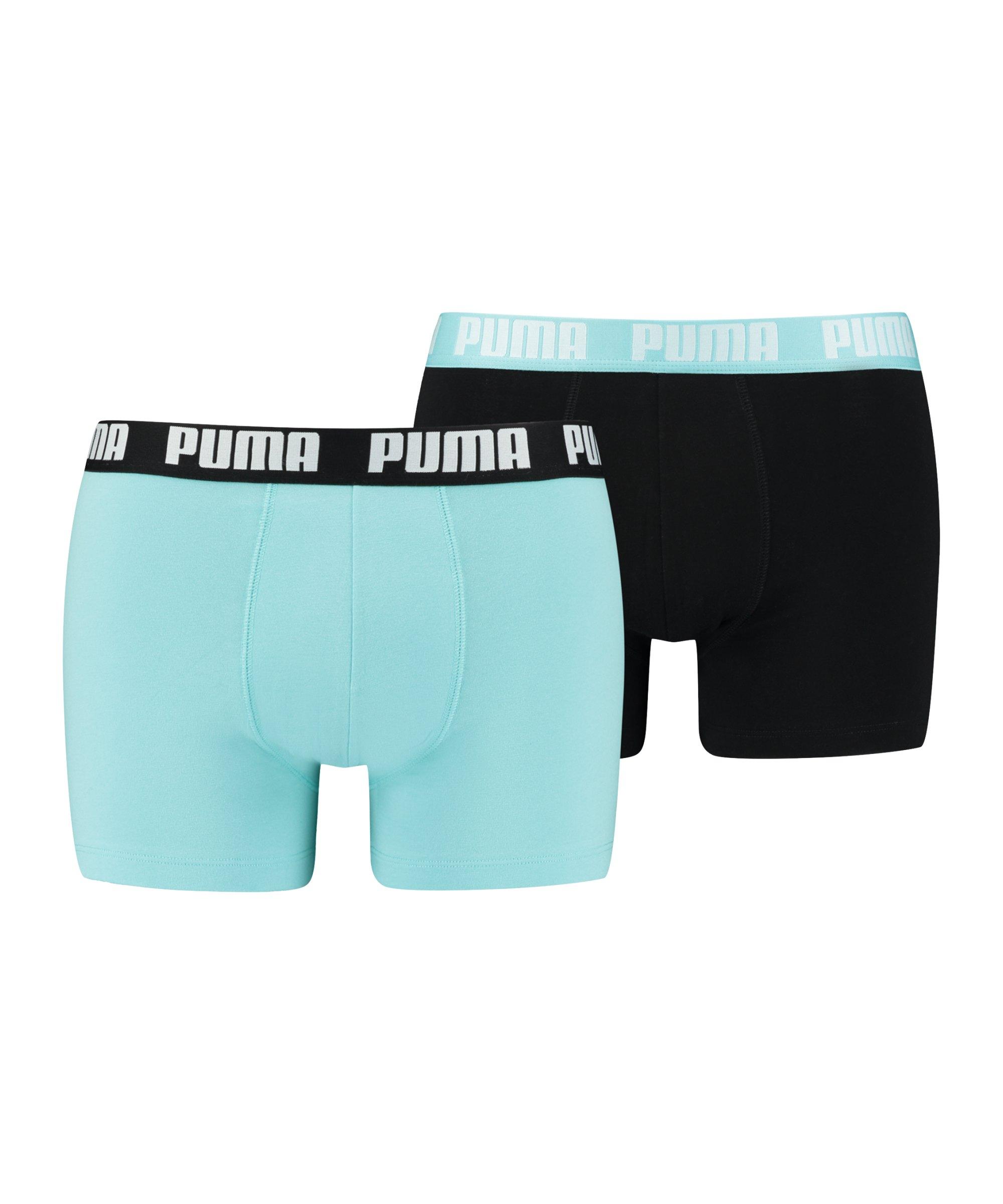 PUMA Basic Boxer 2er Pack Blau Schwarz F018 - blau