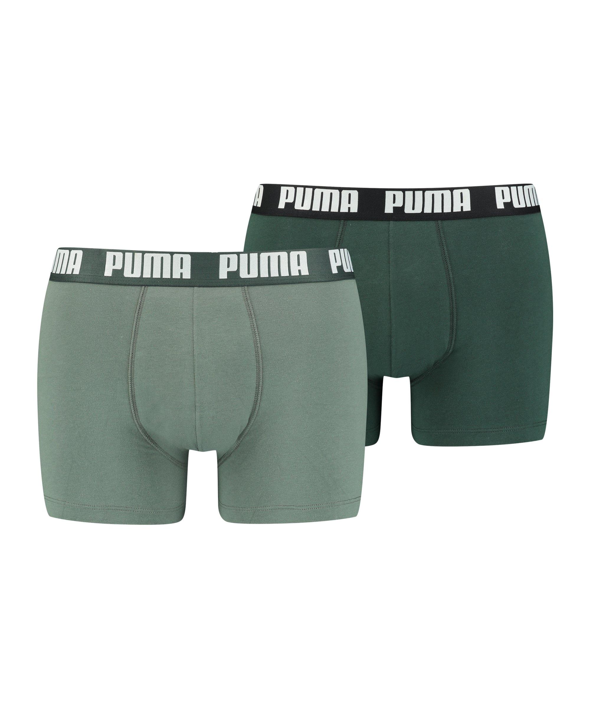 PUMA Basic Boxer 2er Pack Grün F303 - gruen