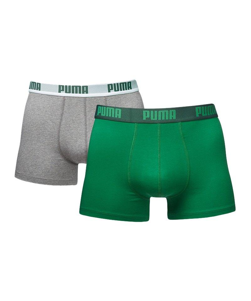 PUMA Boxer Basic 2er Pack Grün F075 - gruen