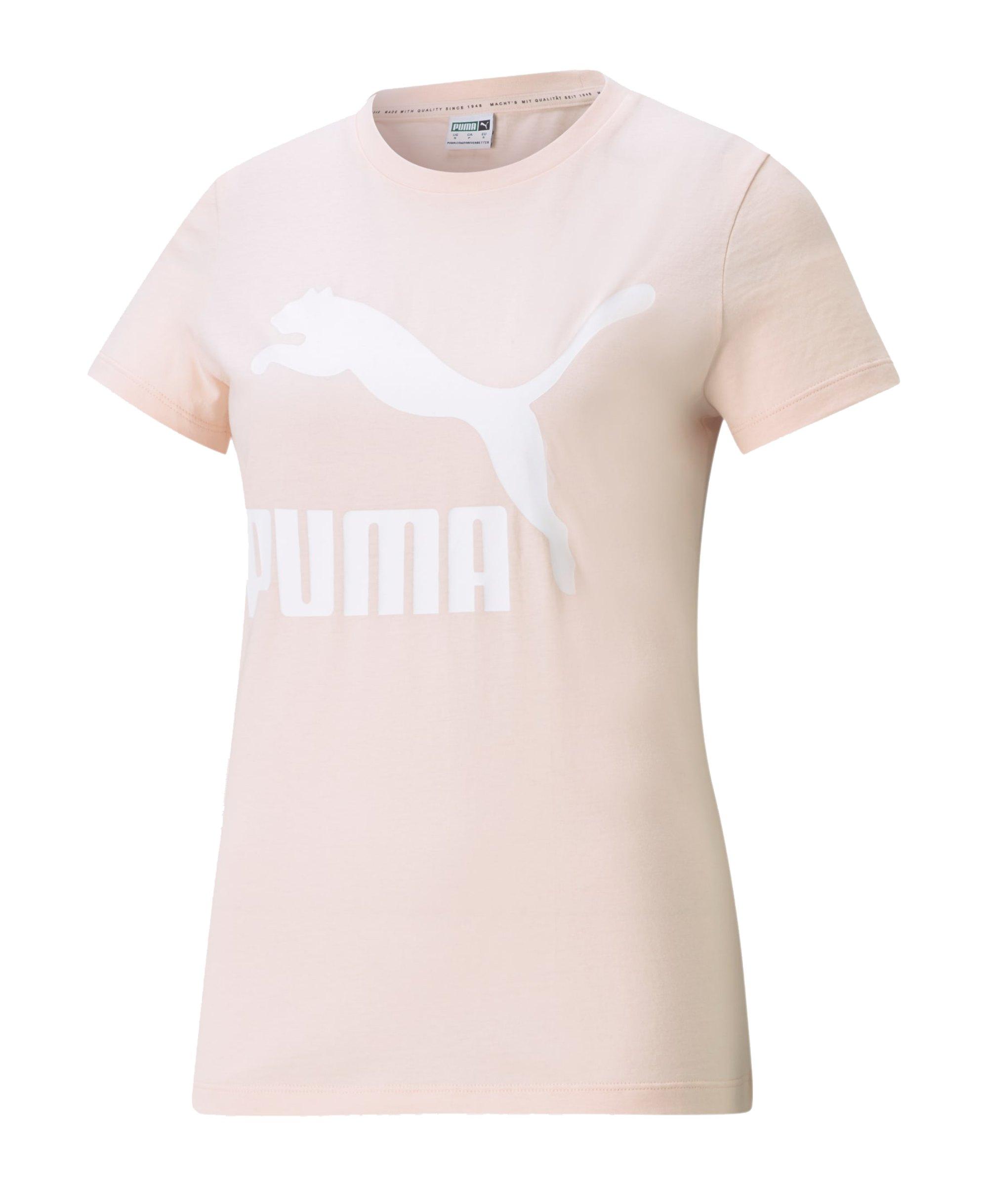 PUMA Classic Logo T-Shirt Damen Pink F27 - pink
