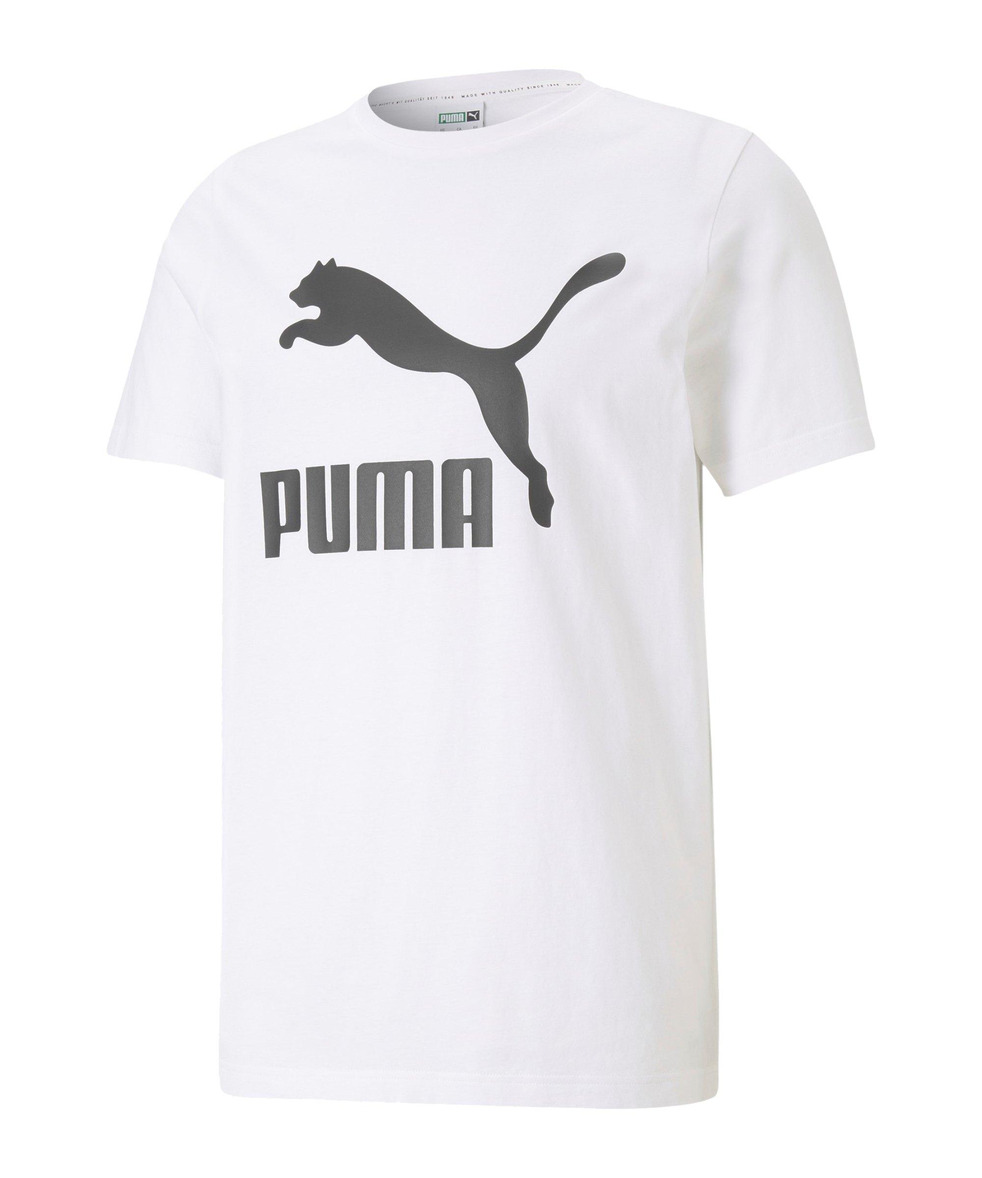 PUMA Classic Logo T-Shirt Weiss F02 - weiss