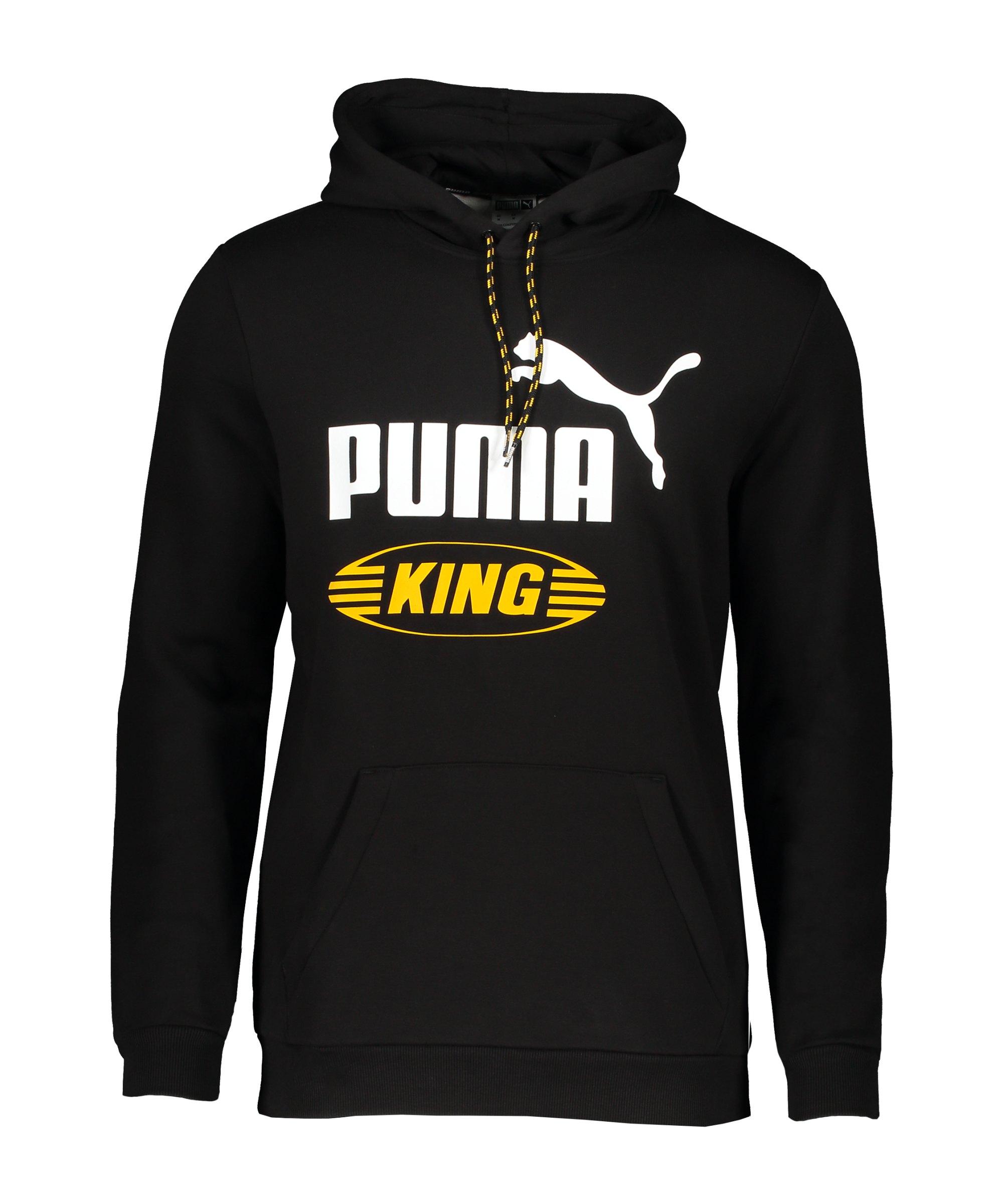 PUMA Iconic KING Hoody Schwarz F01 - schwarz