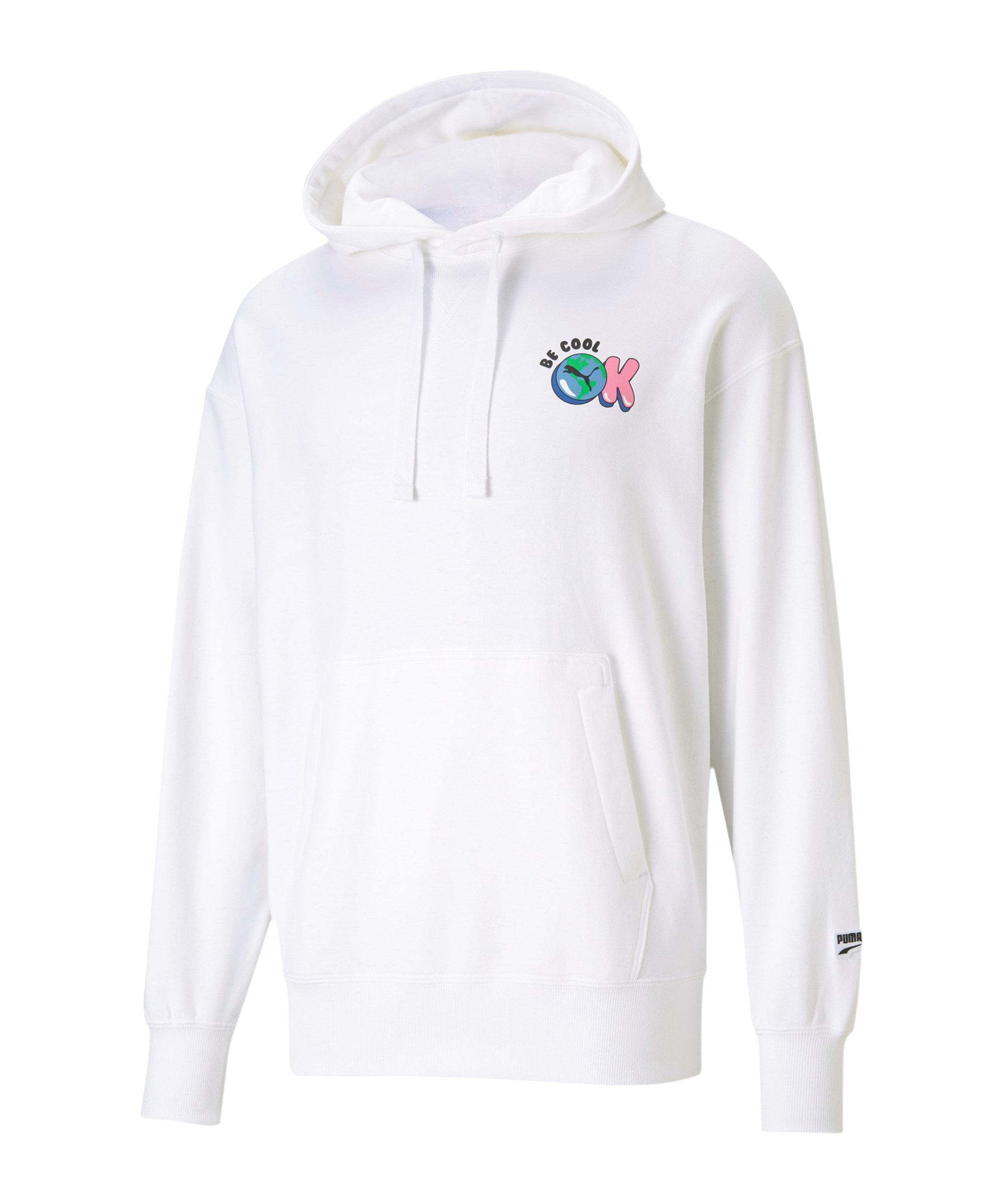 PUMA Downtown Graphic Hoody Weiss F02 - weiss