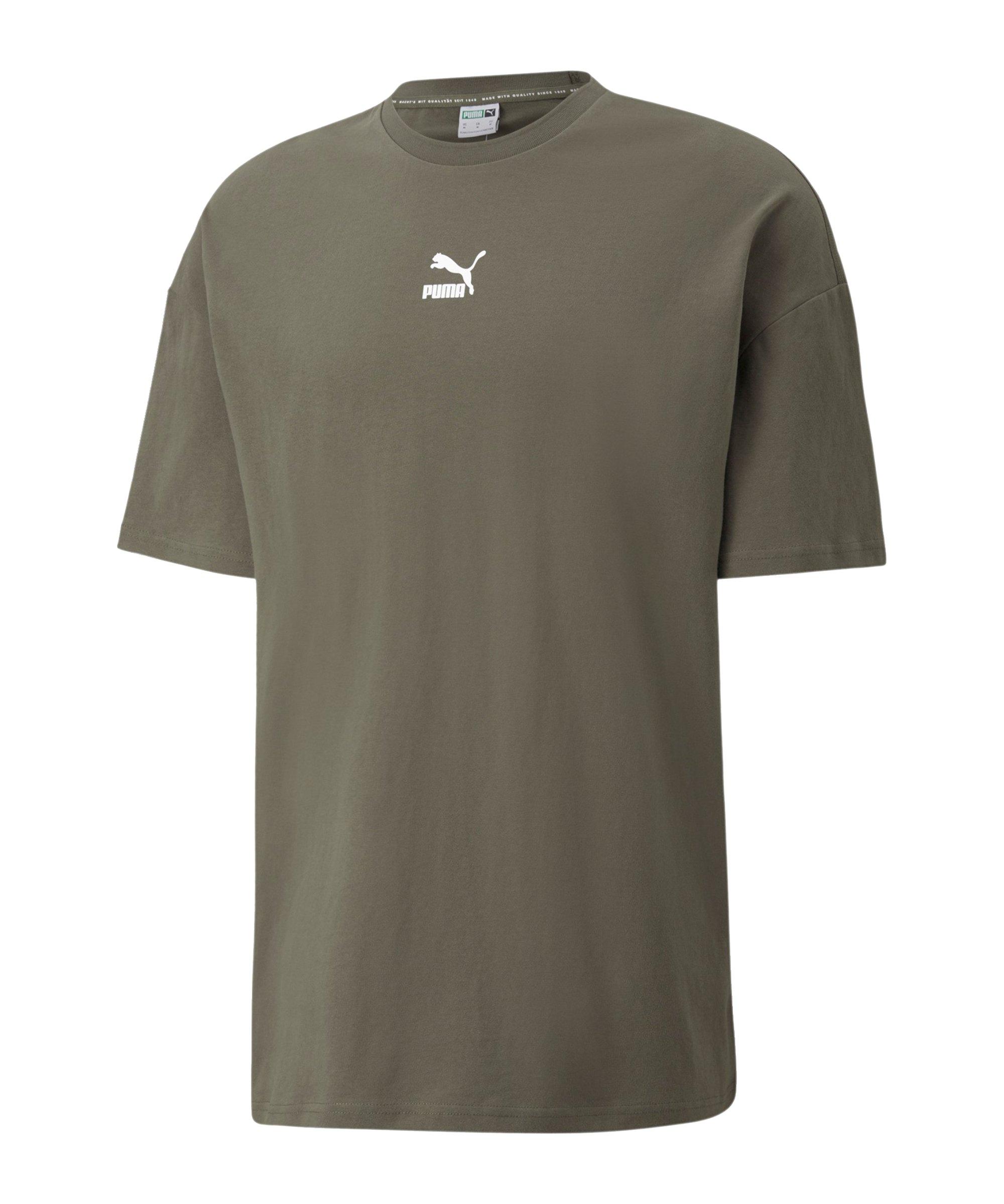 PUMA Classics Boxy T-Shirt Grün F44 - gruen