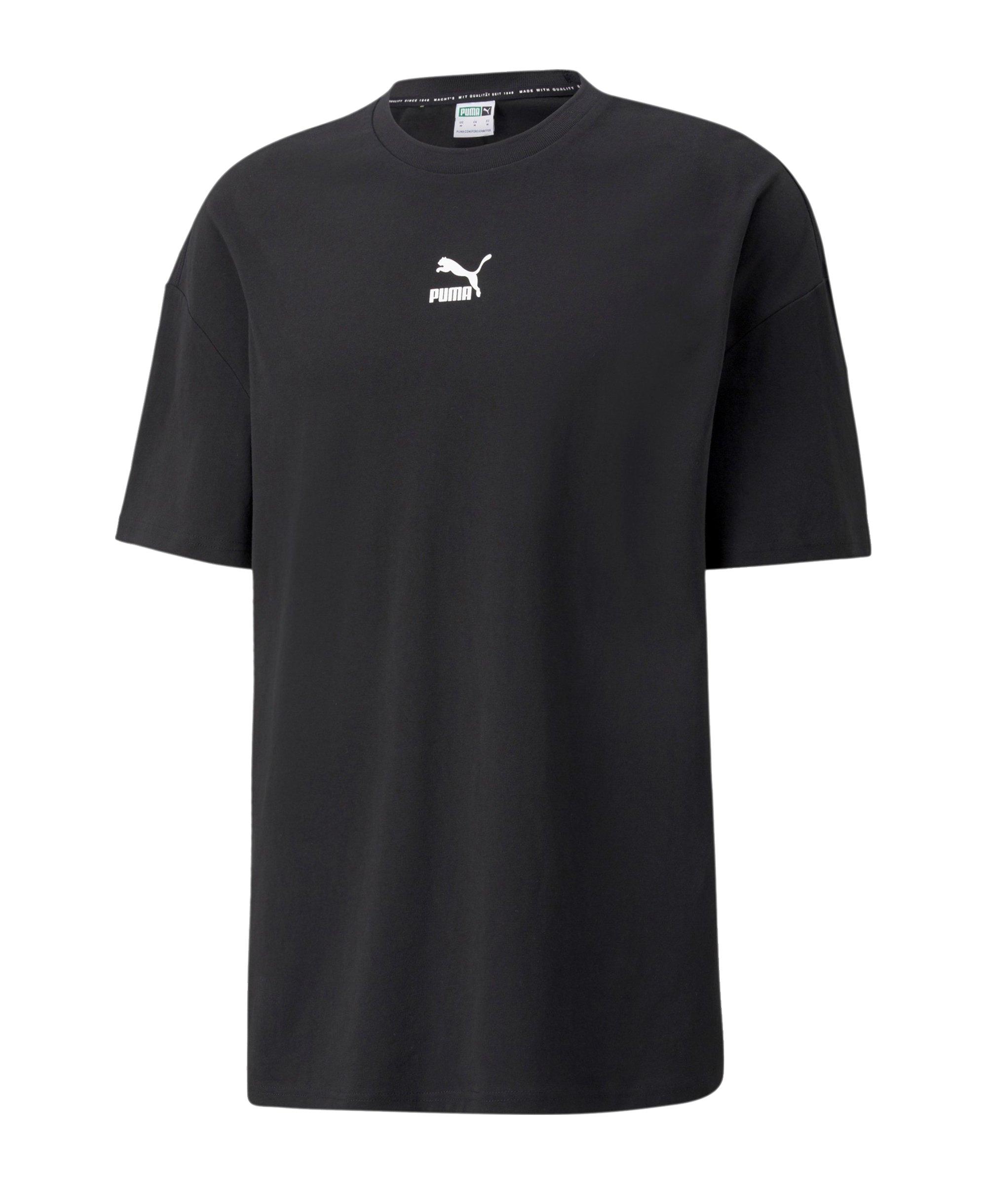 PUMA Classics Boxy T-Shirt Schwarz F01 - schwarz