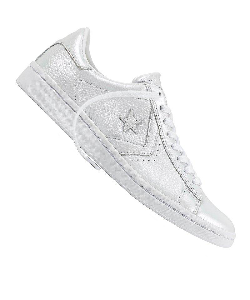 Converse Pro Leather LP OX Sneaker Damen F082 - silber
