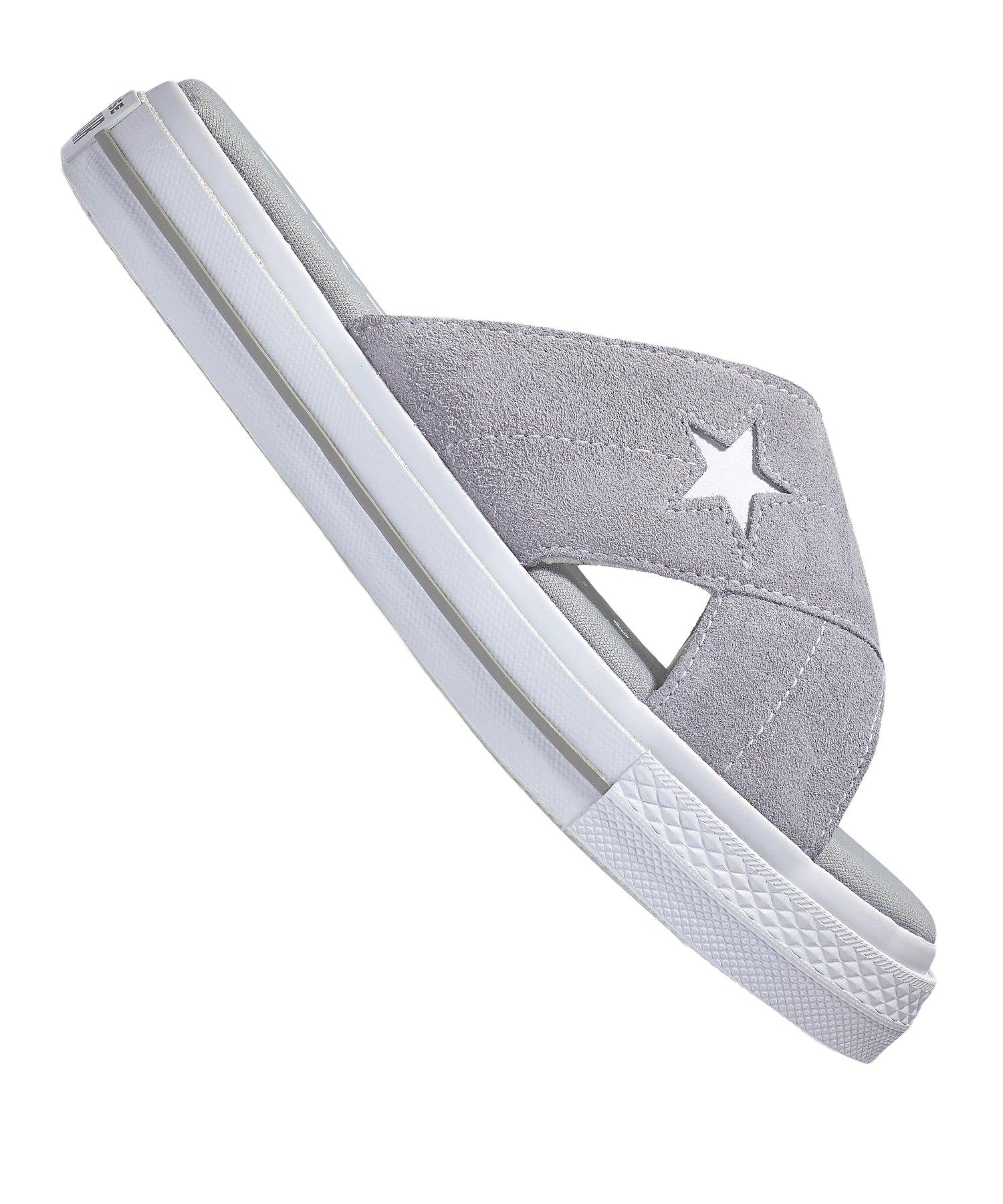 Converse One Star Sandal Slip Sneaker Damen F020 - grau