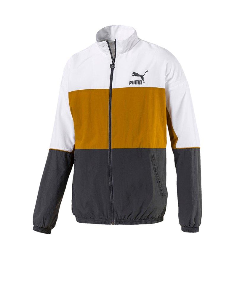 PUMA Retro Woven Track Jacket Jacke Grau F14 - grau