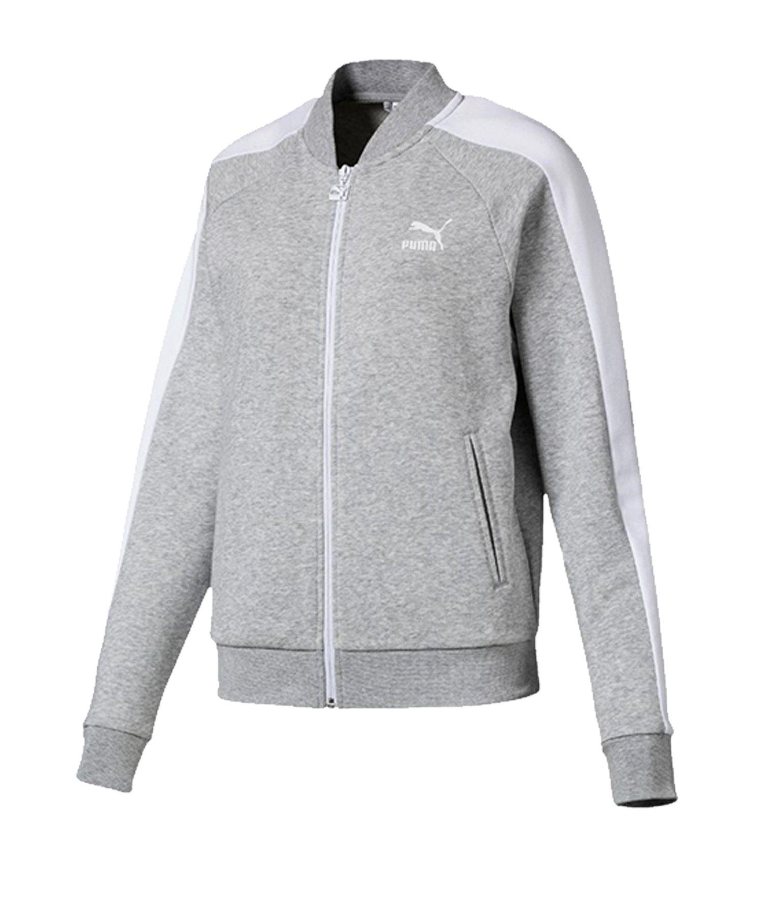 PUMA Classics T7 Track Jacket Jacke Damen F04 - grau