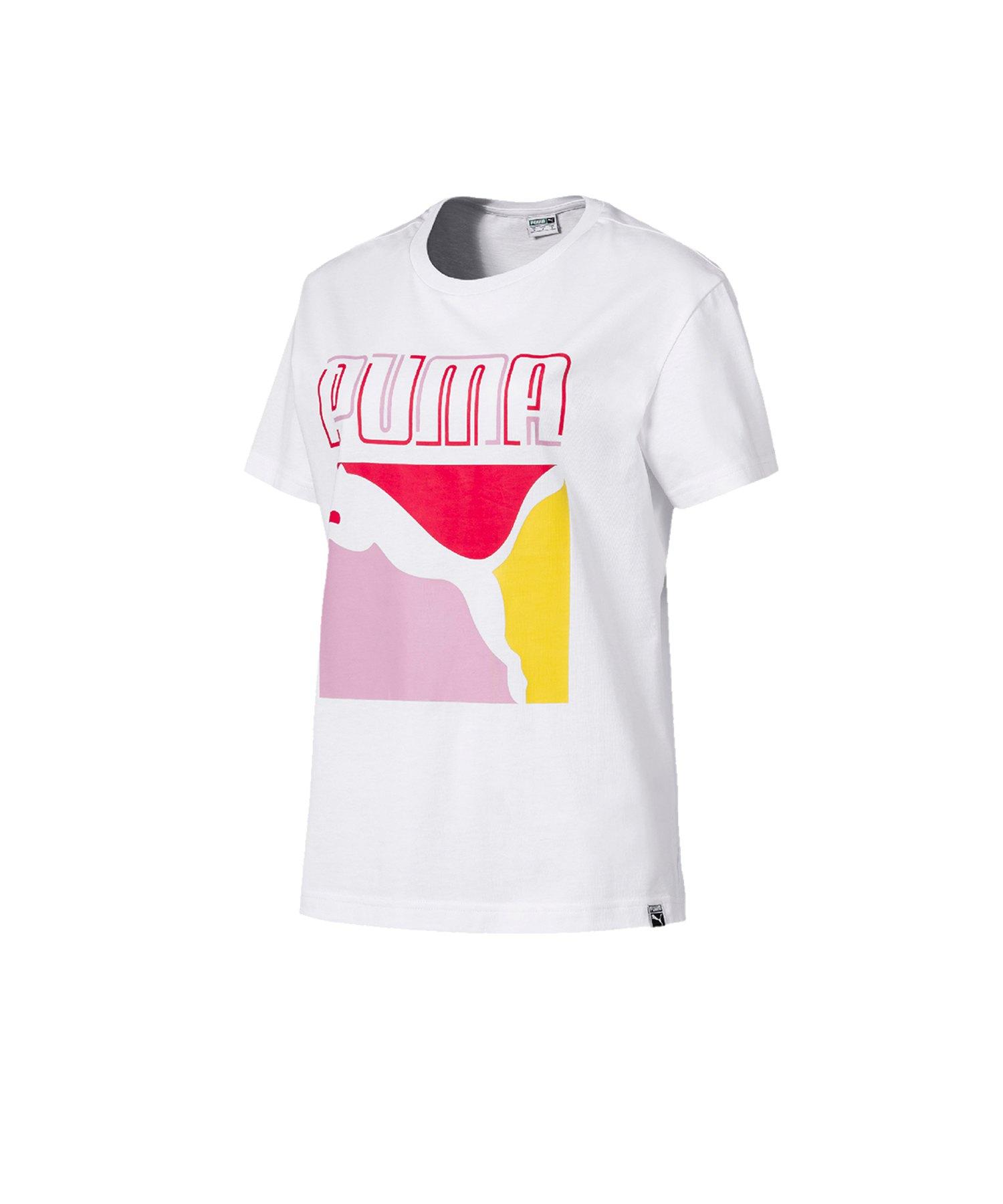 PUMA Graphics Reg Triple T-Shirt Weiss F02 - weiss