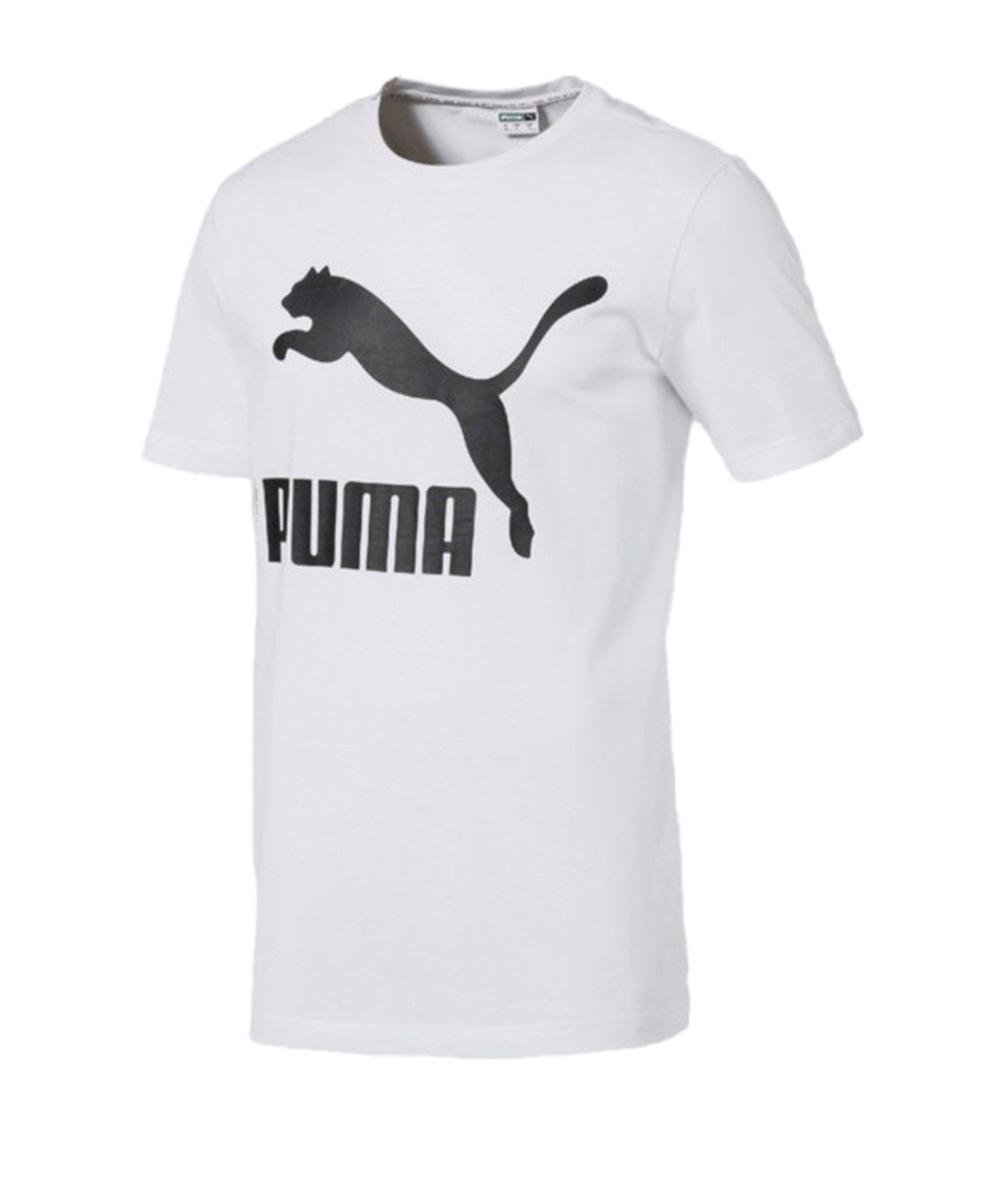 PUMA Classics Logo Tee T-Shirt Weiss F02 - weiss