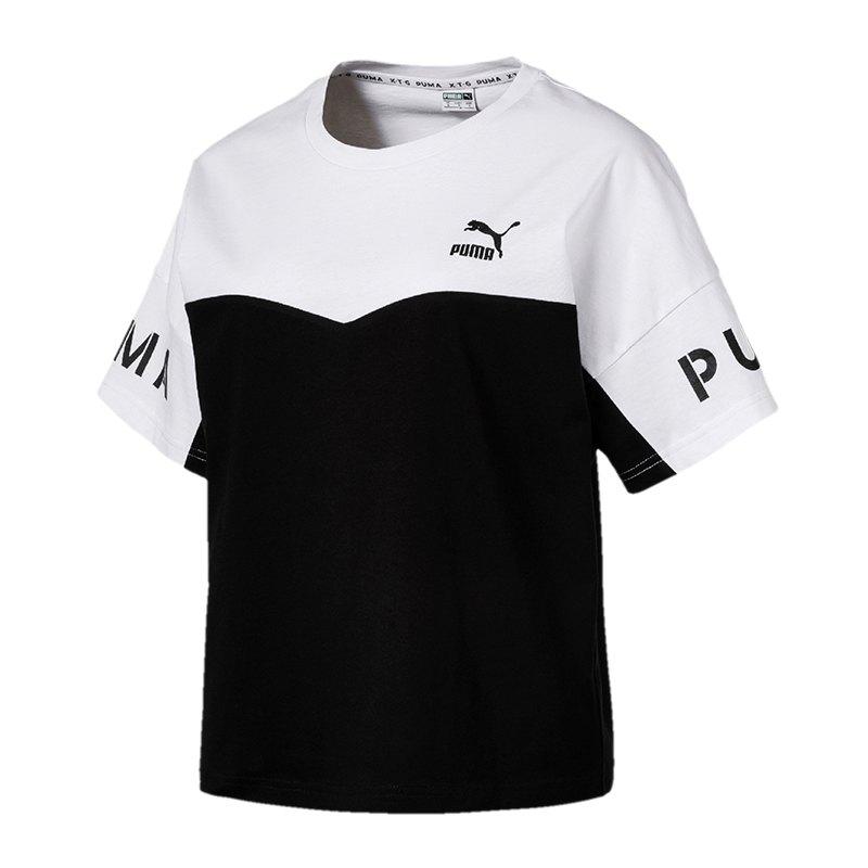 PUMA XTG Colorblock Tee T-Shirt Damen Schwarz F02 - schwarz