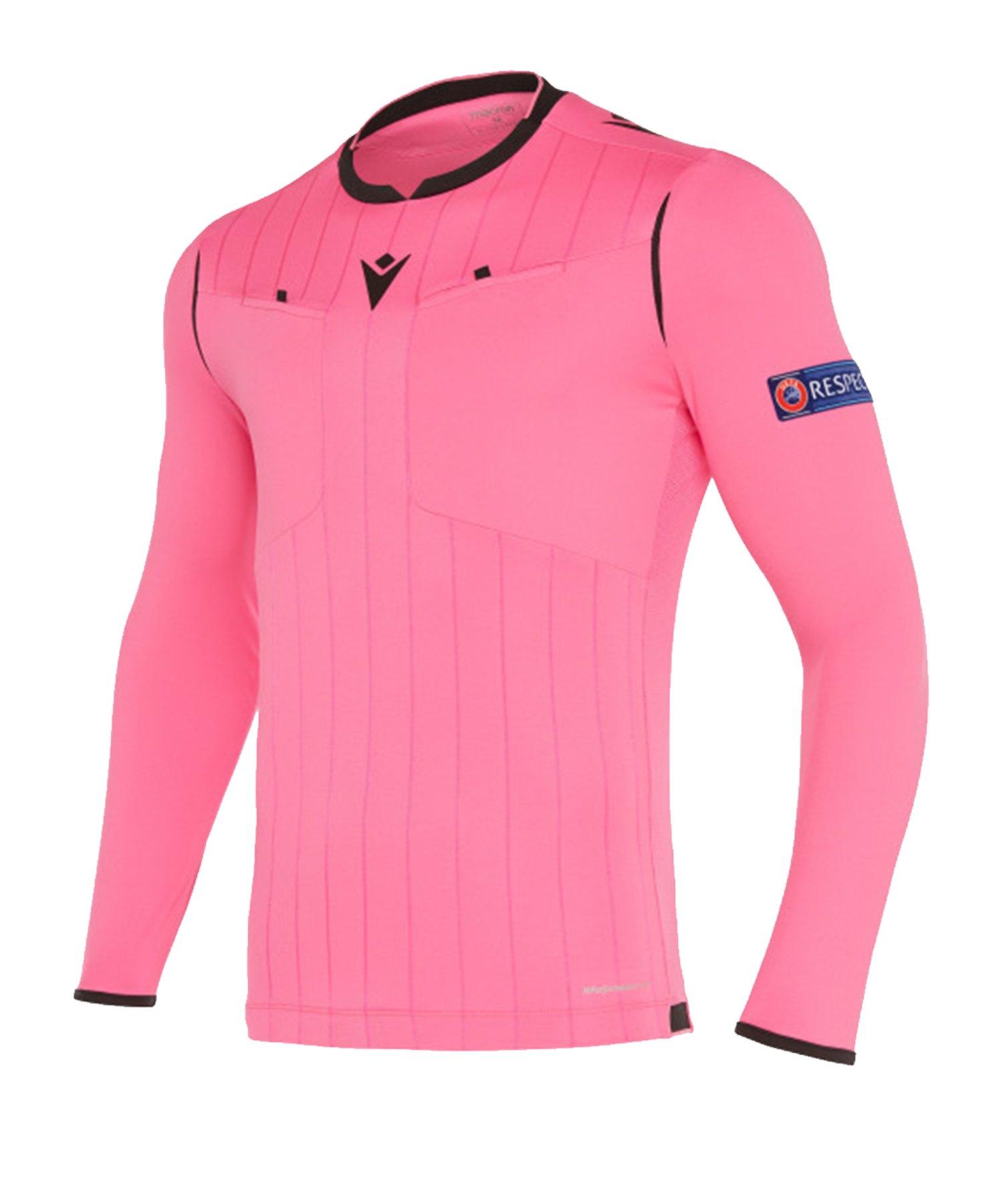 Macron UEFA Schiedsrichtertrikot langarm Neon Pink - pink