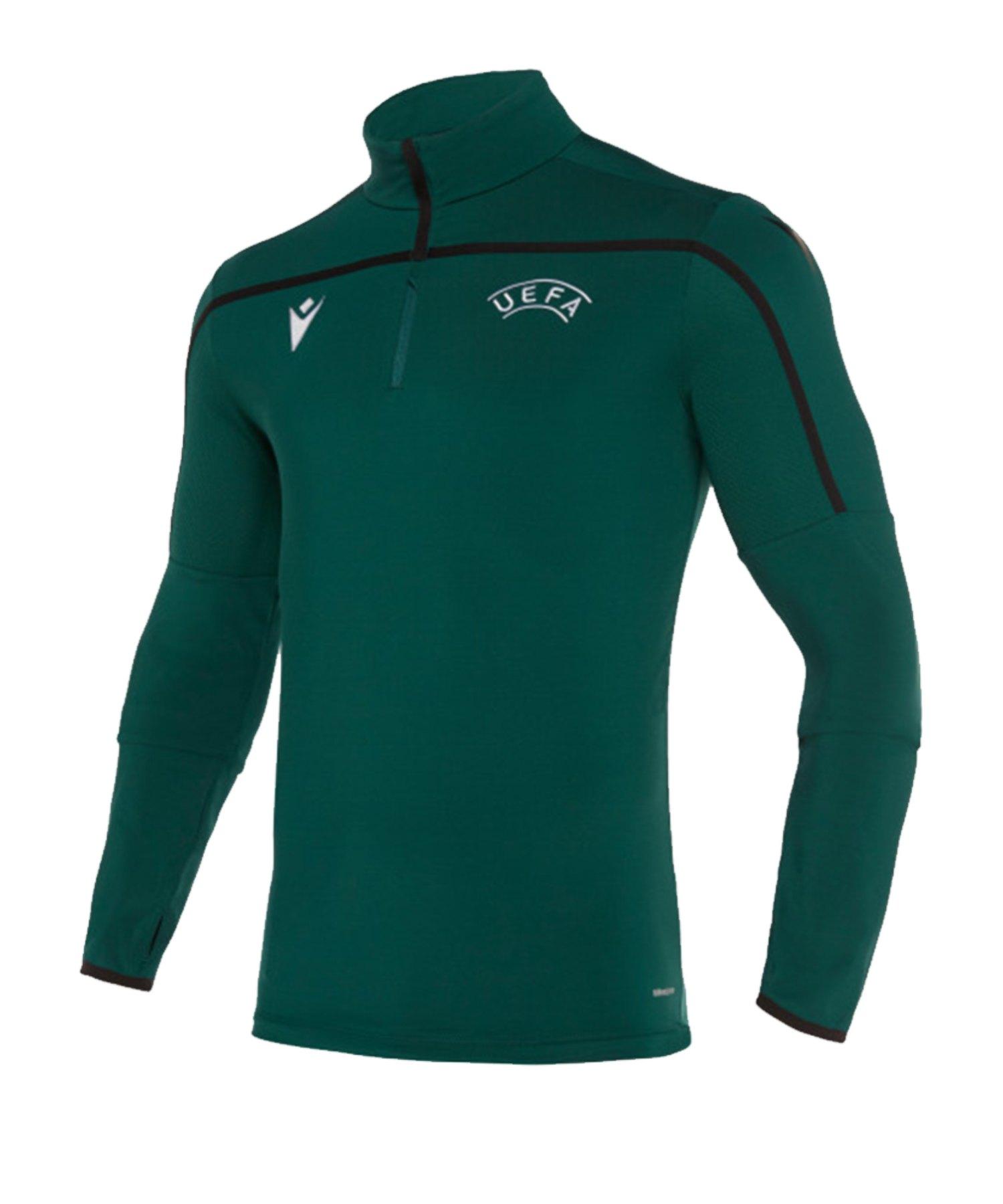 Macron UEFA Offizielles Training Sweatshirt Grün - gruen