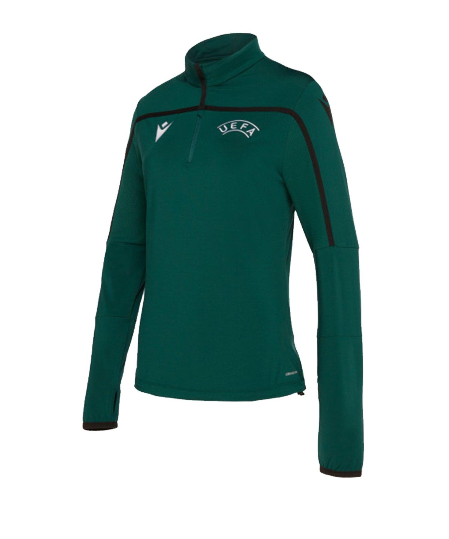 Macron UEFA Training Sweatshirt Damen Grün - gruen