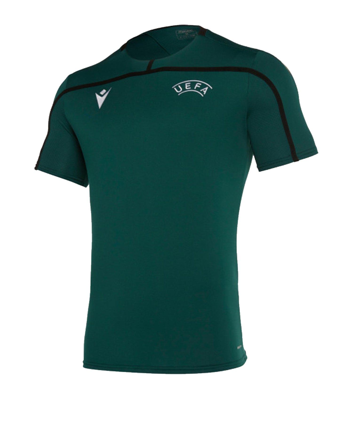 Macron UEFA Offizielles Trainingsshirt Grün - gruen
