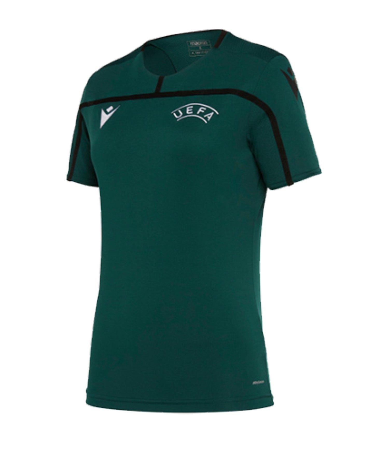 Macron UEFA Offizielles Trainingsshirt Damen Grün - gruen