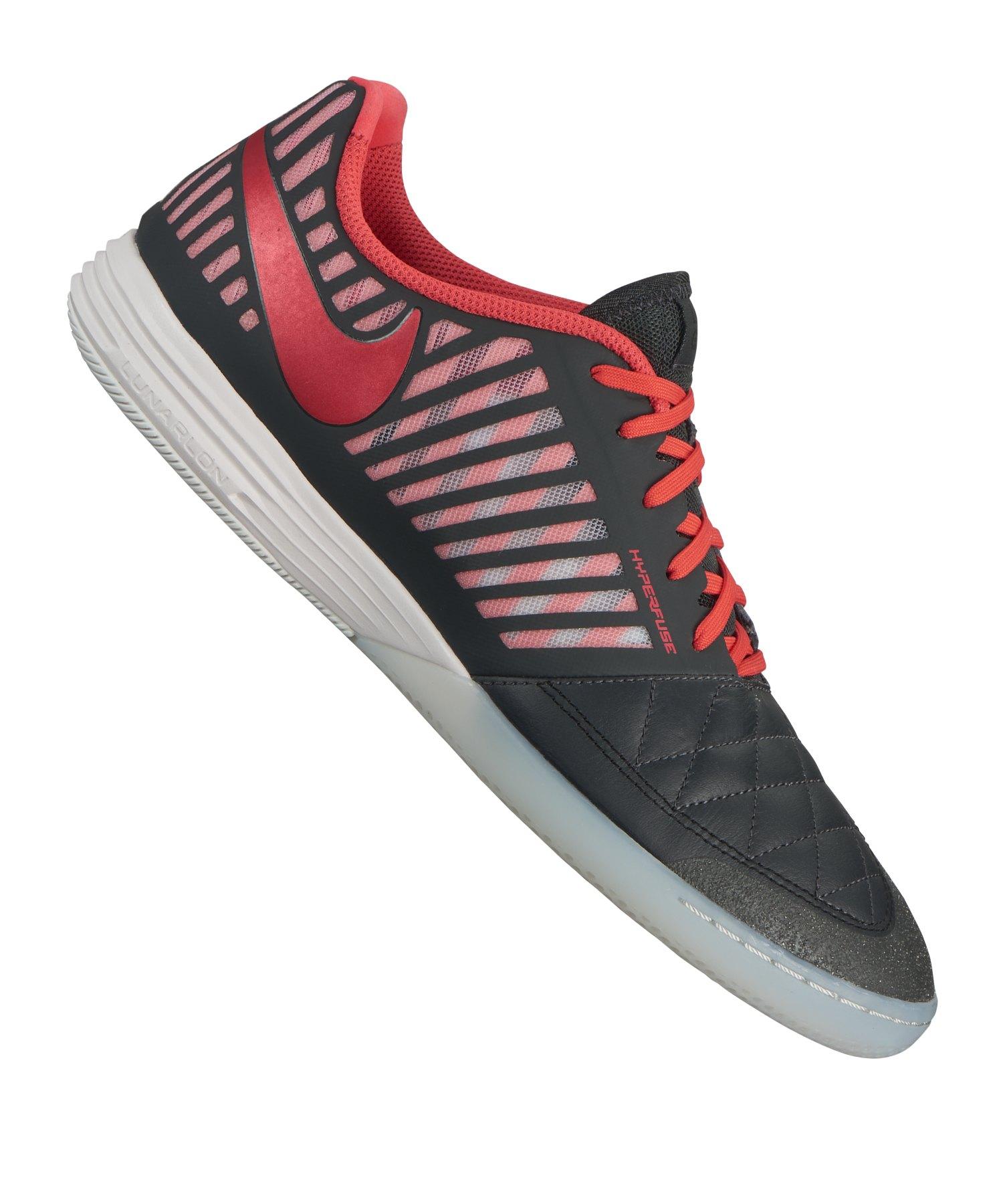 Nike Lunar Gato II Futsal IC Grau Rot F080 - Grau