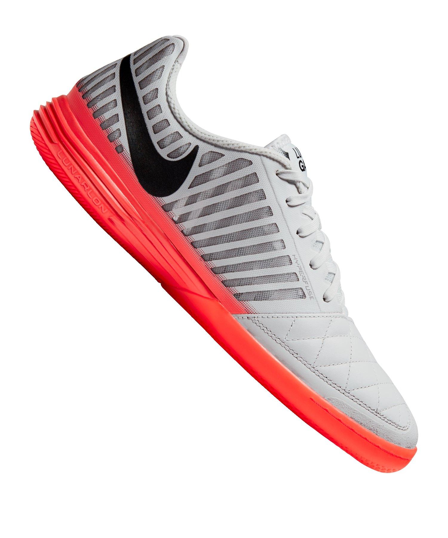Nike Lunar Gato II IC Grau Rot F060 - grau